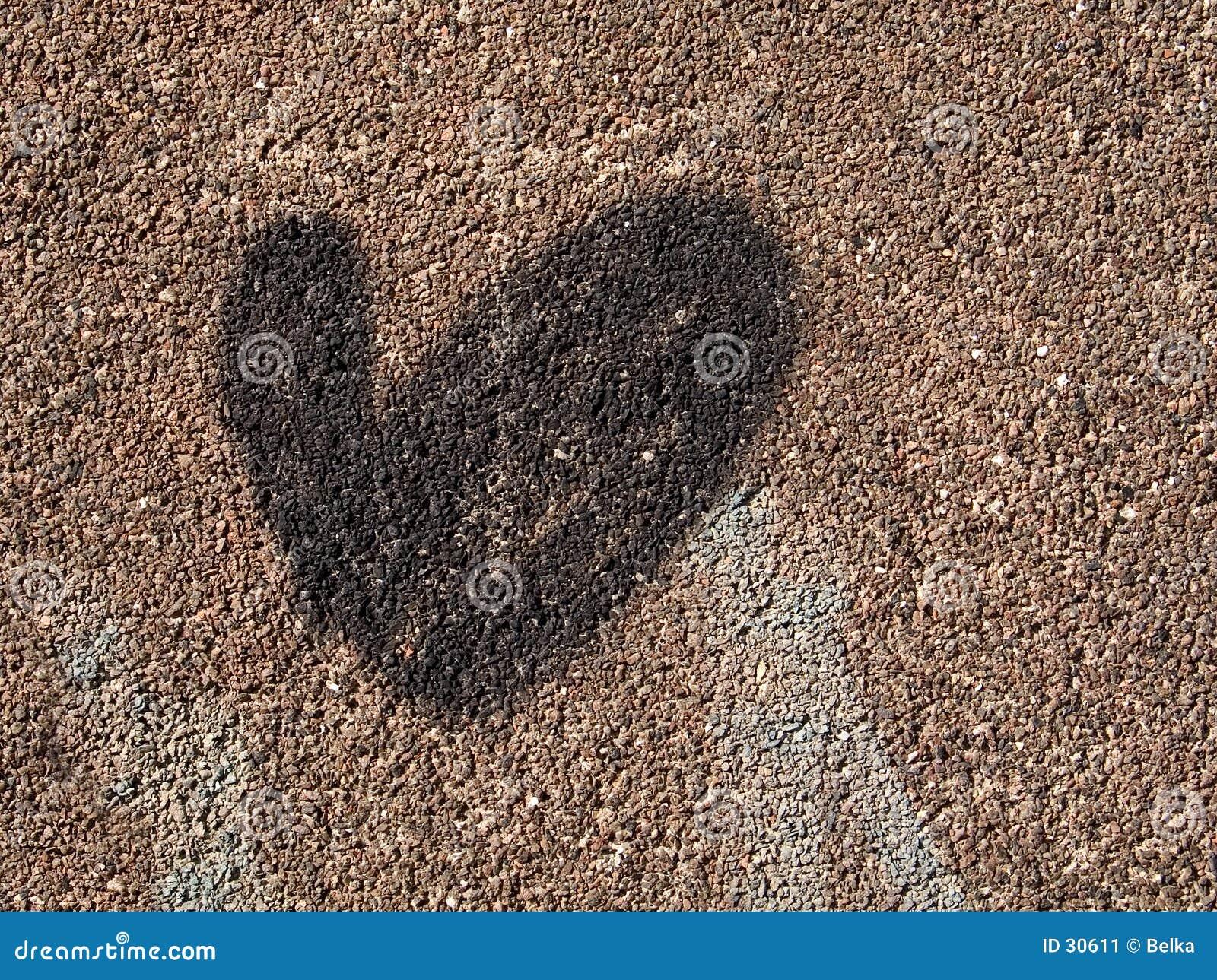 Coeur sur un mur