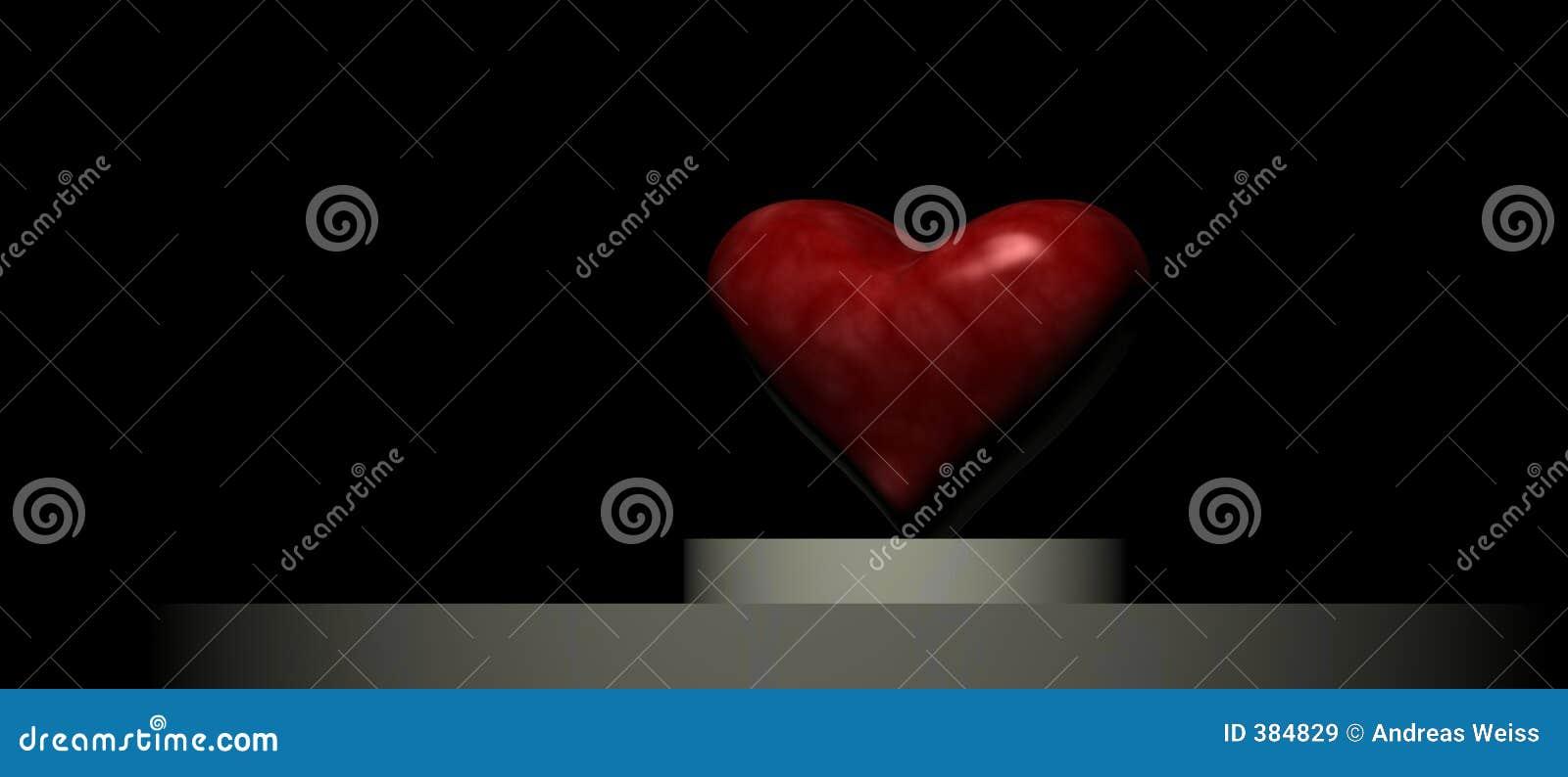 Coeur sur un podiume