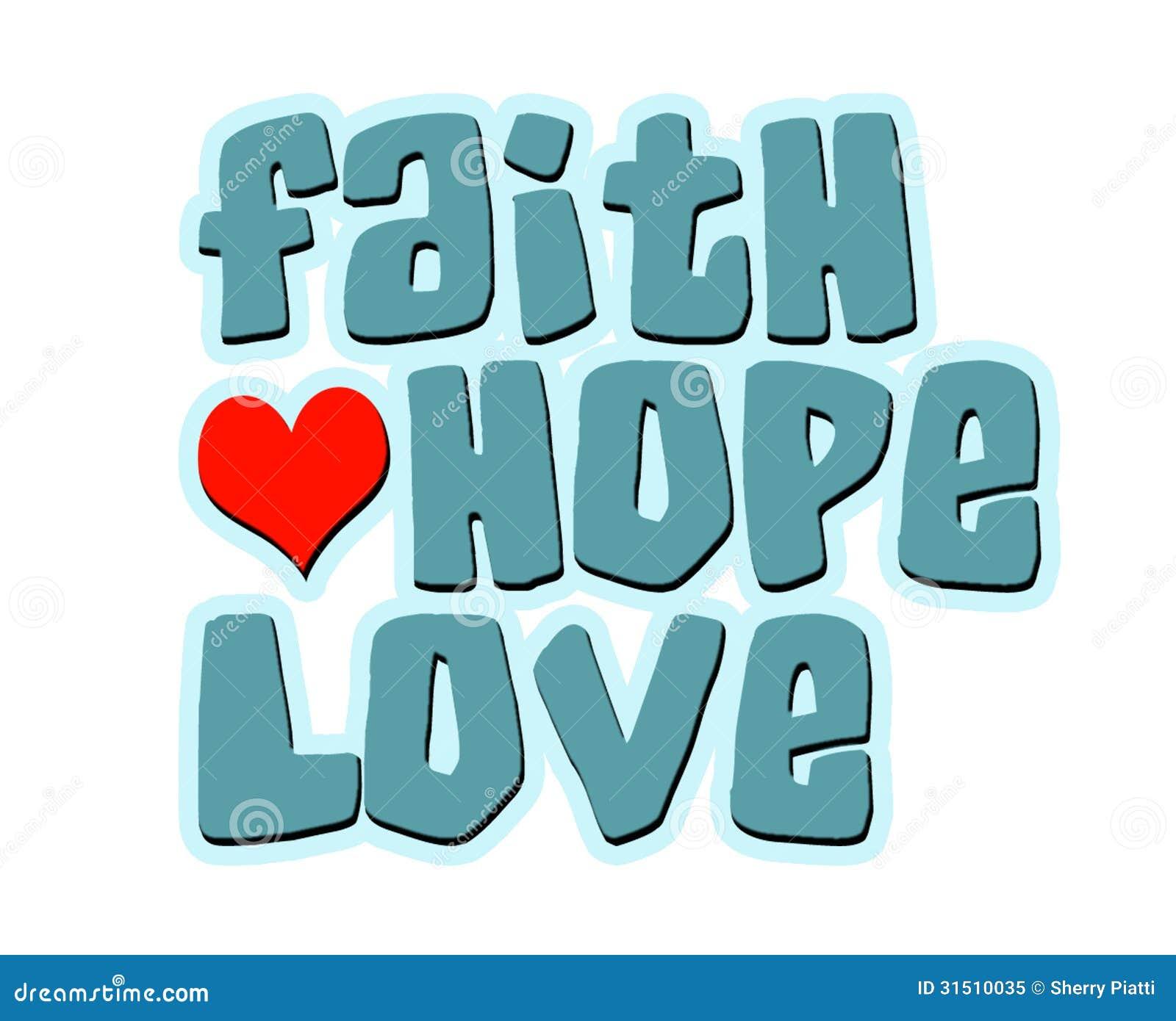 Coeur Word d amour d espoir de foi