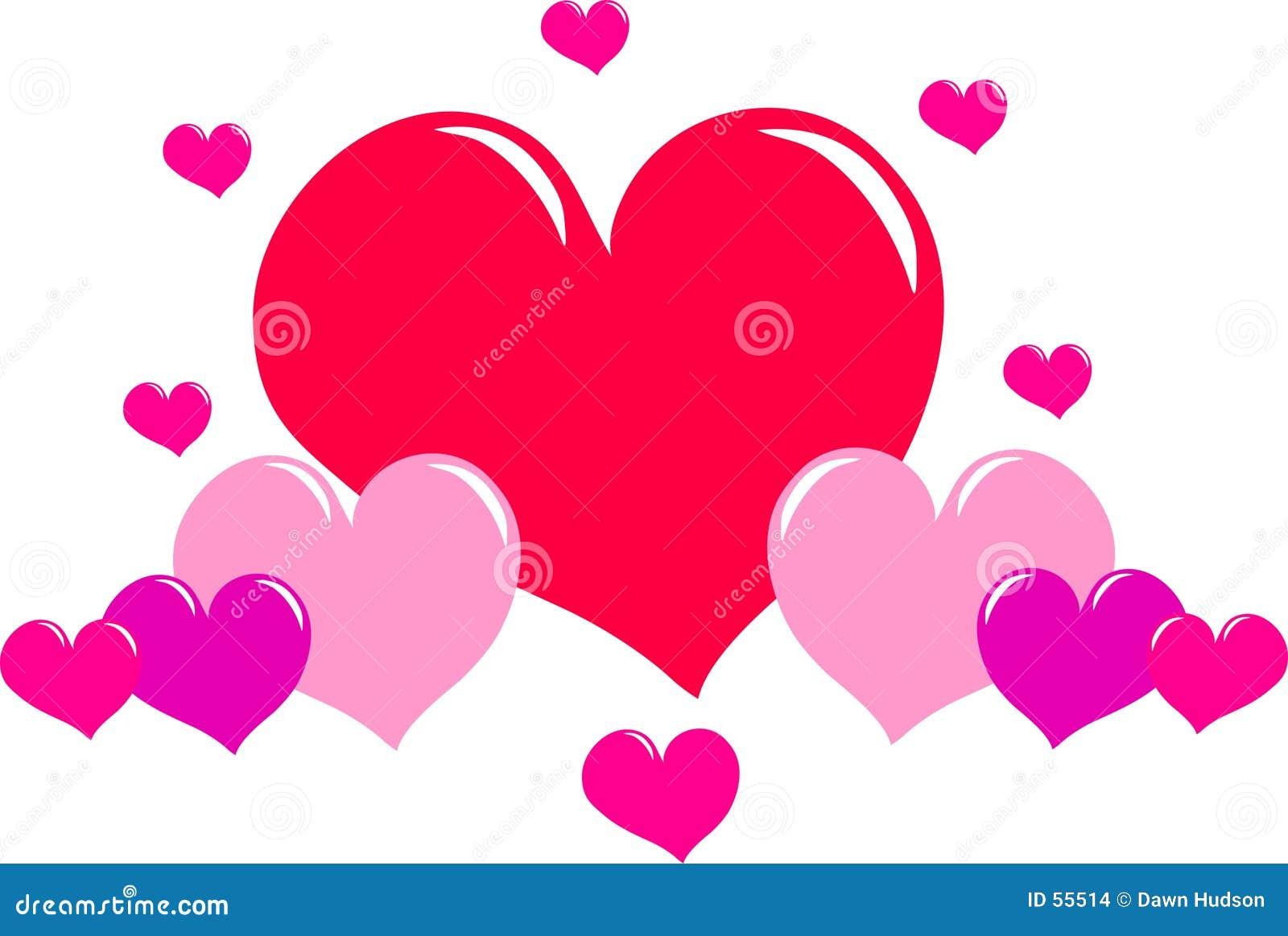 Download Coeurs d'amour illustration de vecteur. Illustration du coeurs - 55514