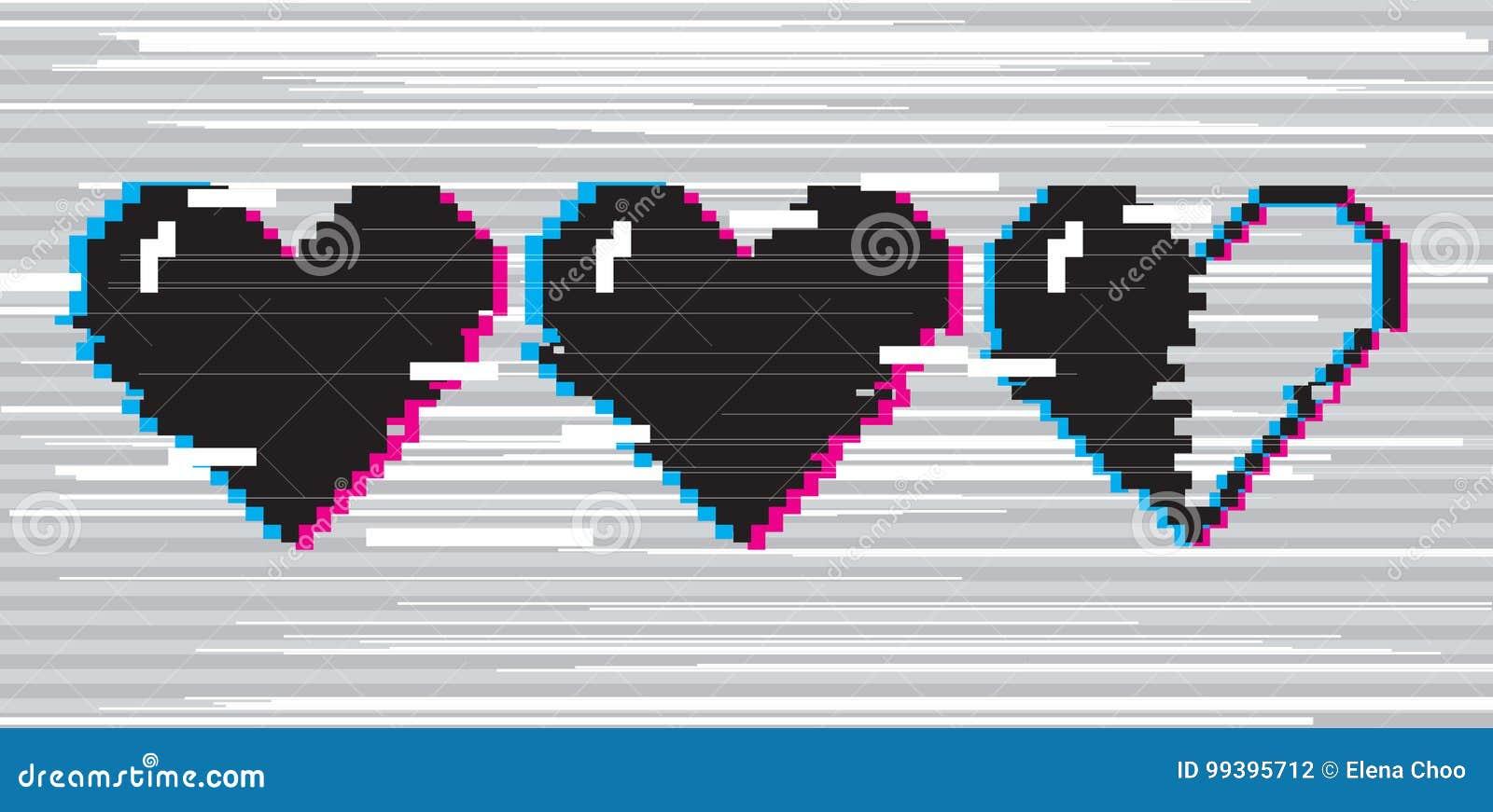 Coeurs d art de pixel pour le jeu