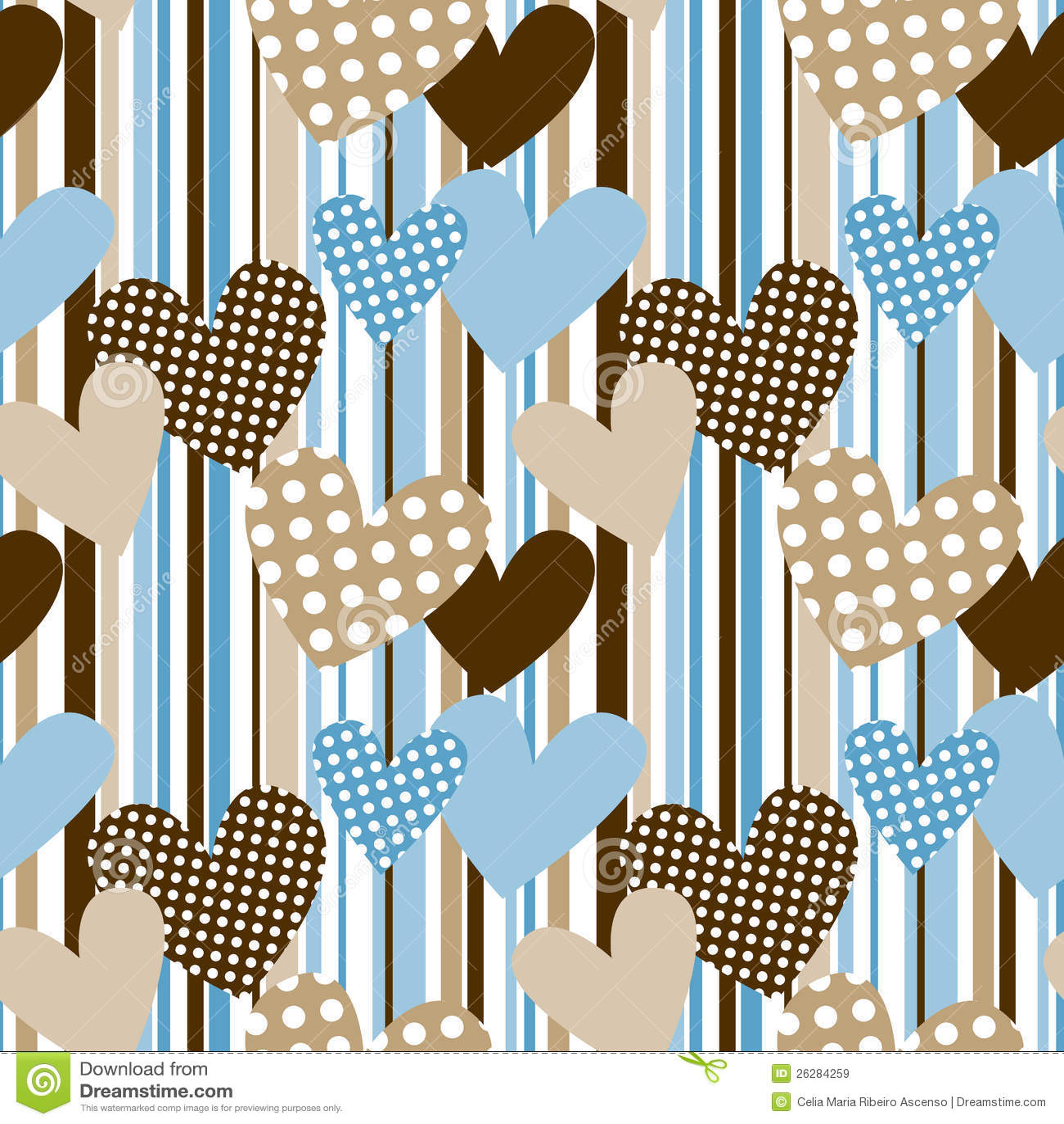 Coeurs de point de polka à l arrière-plan sans joint de pistes