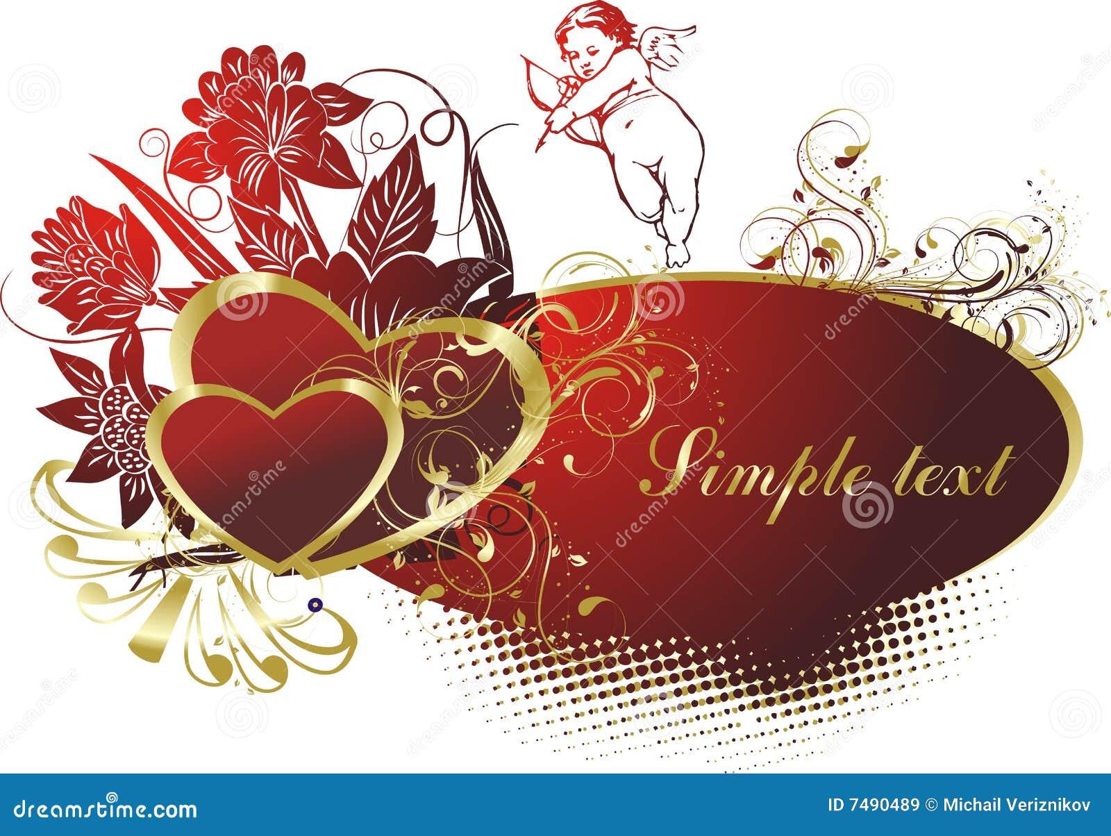 Coeurs deux de cupidon illustration de vecteur illustration du configuration 7490489 - Image de cupidon gratuite ...