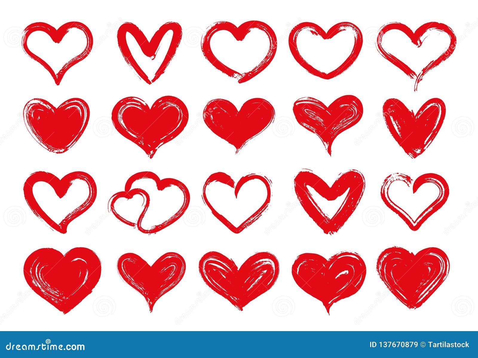 Coeurs Grunges Coeur Rouge Tire Par La Main Valentine Aimee D