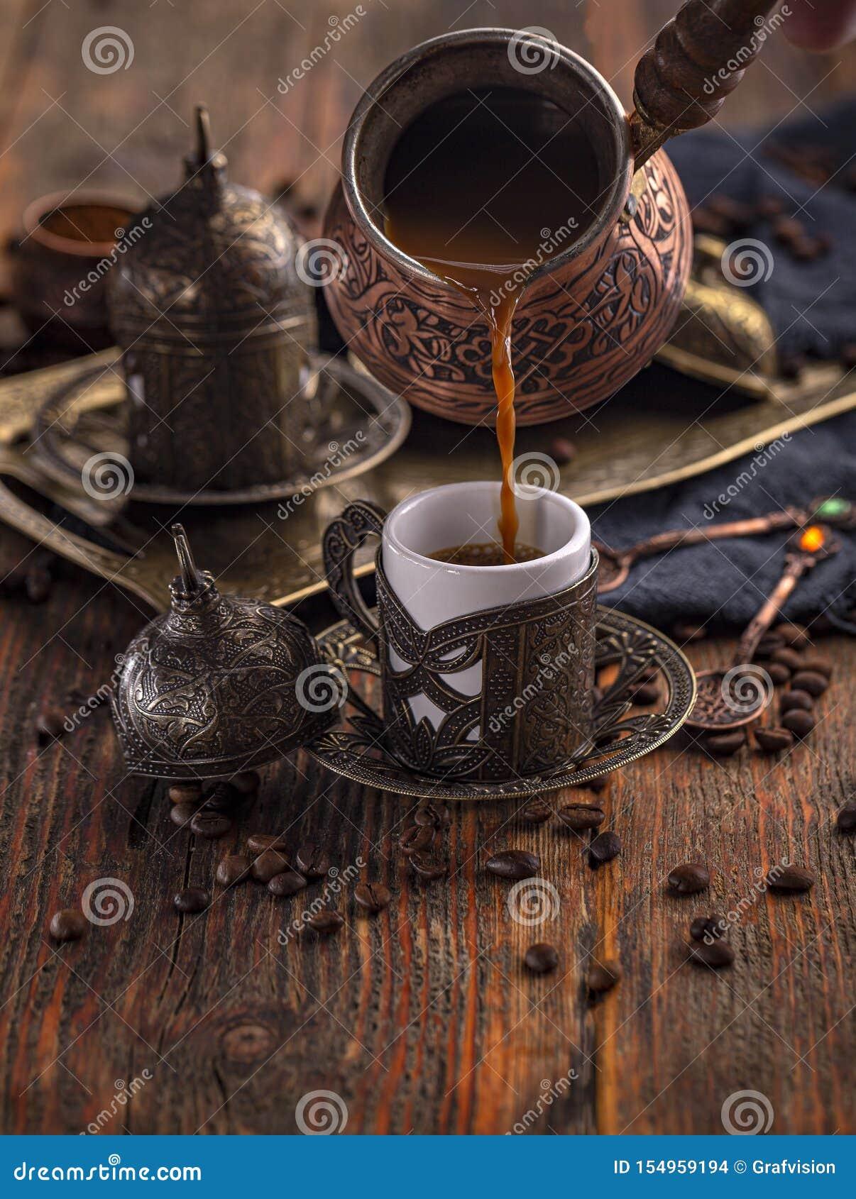 Coffe breved frais dans le cezve