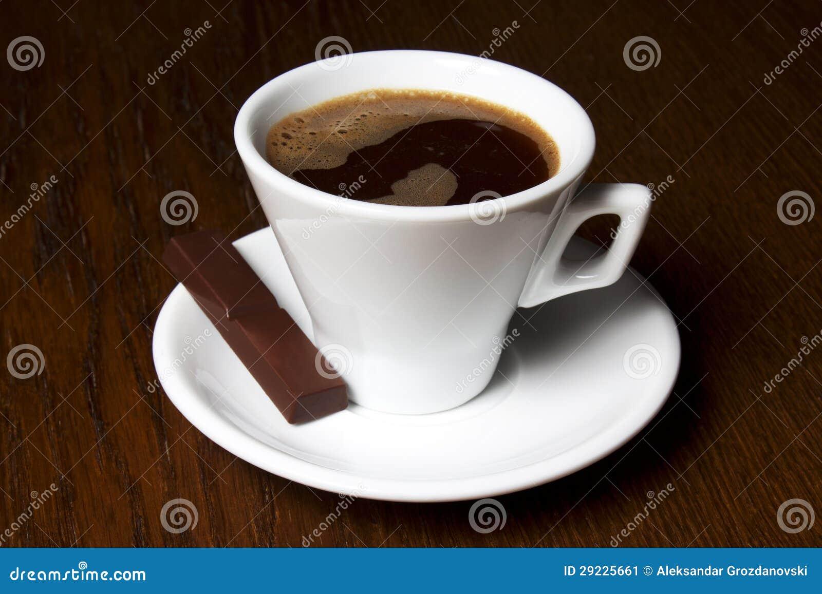 Download Coffe Coloca Doces De Chocolate Imagem de Stock - Imagem de doce, espresso: 29225661