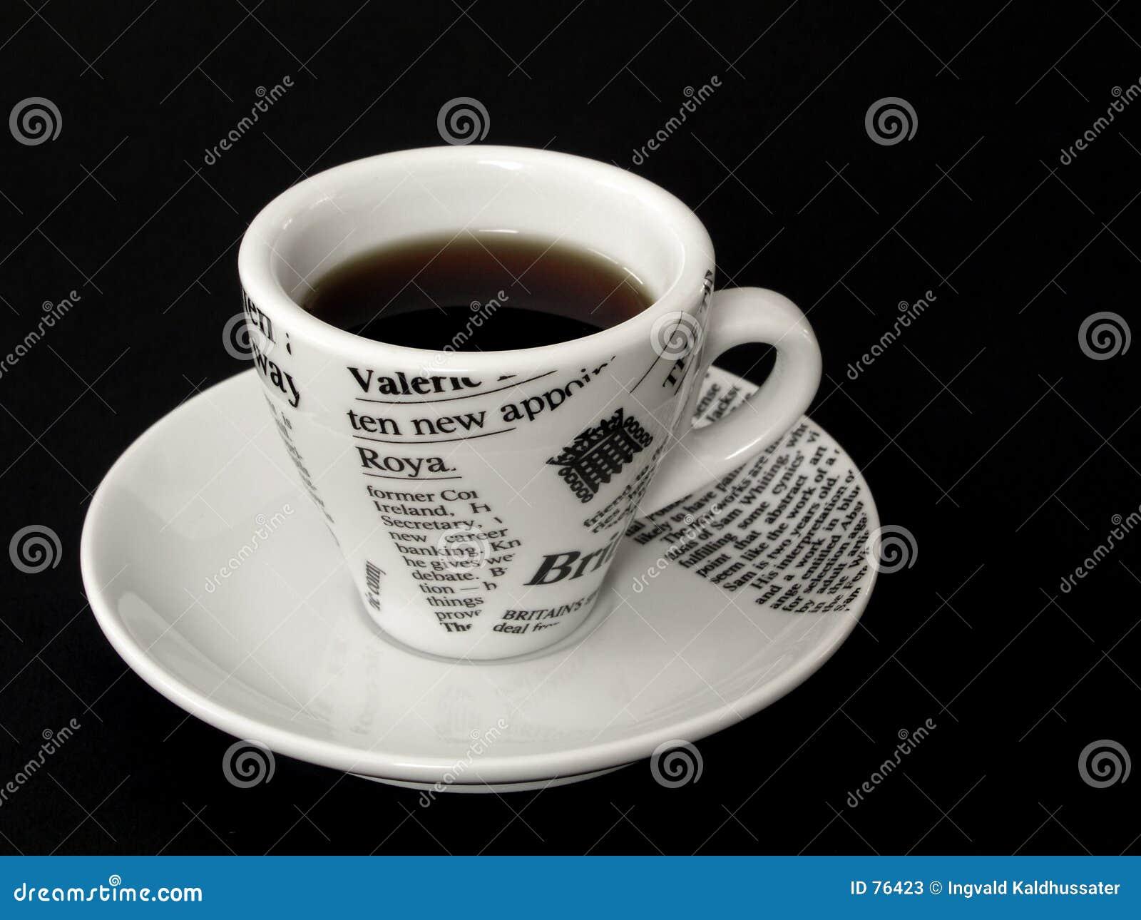 Coffe Cup auf Schwarzem