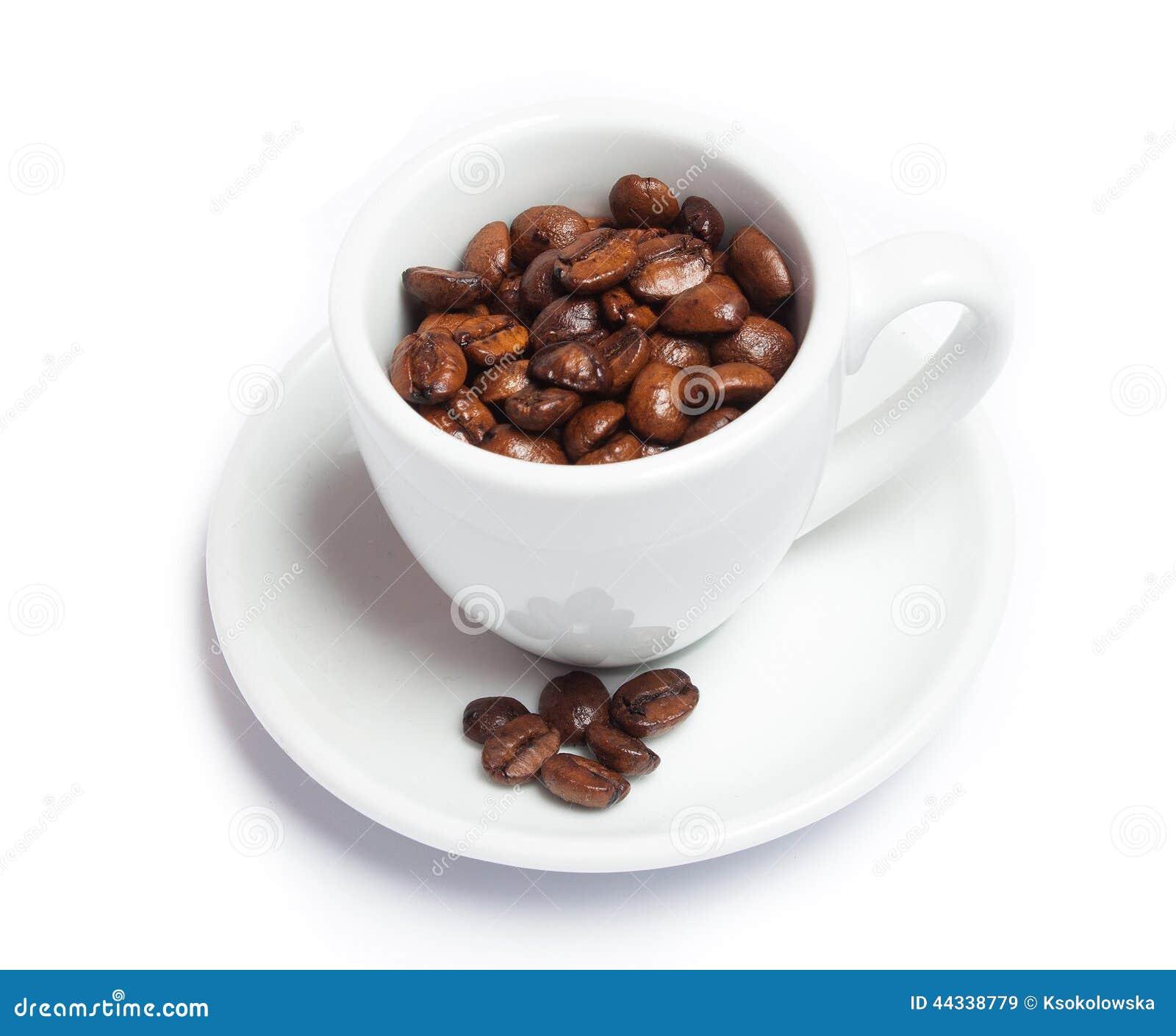Coffe fasole w filiżance