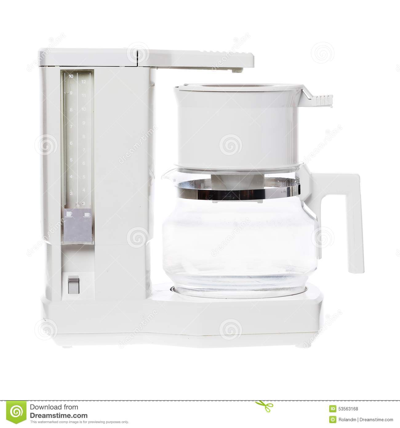 Plastic Free Coffee Maker Electric : Coffe Maker Stock Photo - Image: 53563168
