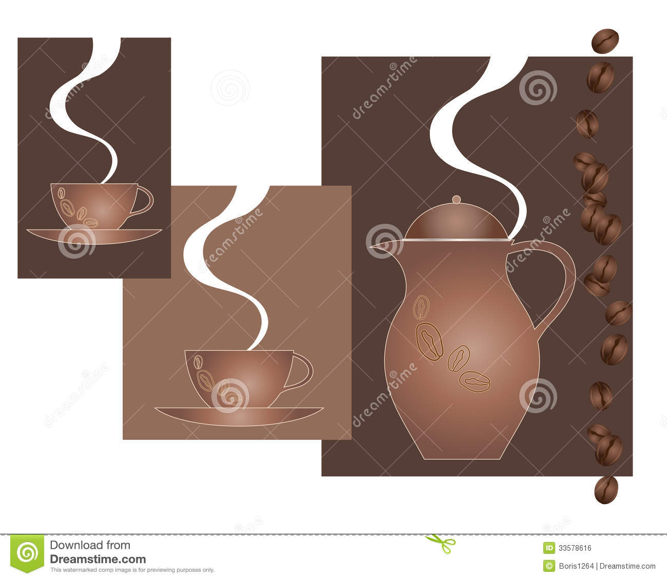 Coffee Adver... Coffee Beans And Cup Background