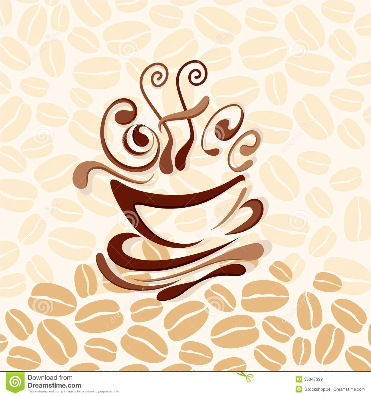 Coffee Background Royalty Free Stock Images - Image: 35347399