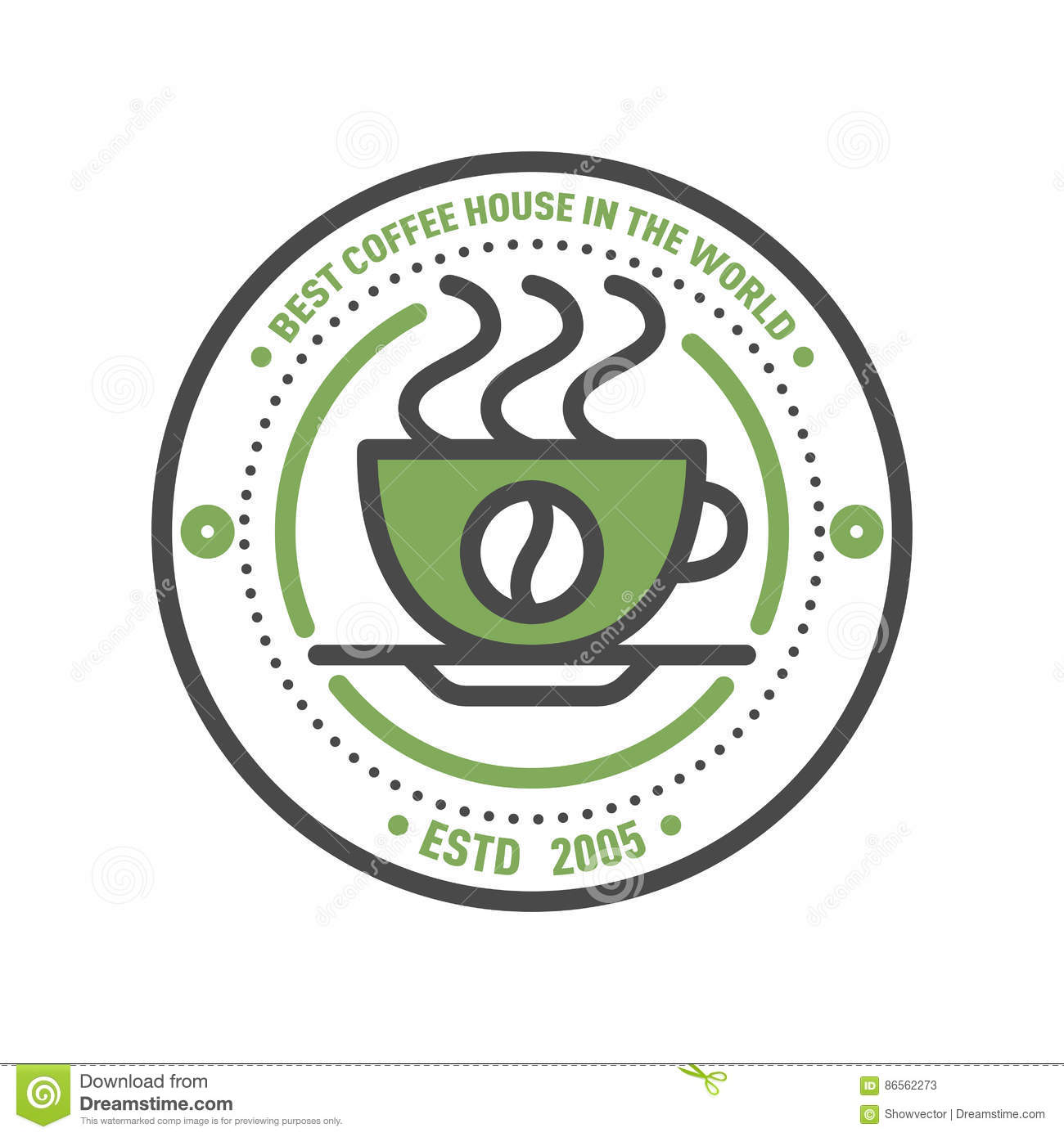 Coffee Badge Logo Food Design Thin Line Lettering For