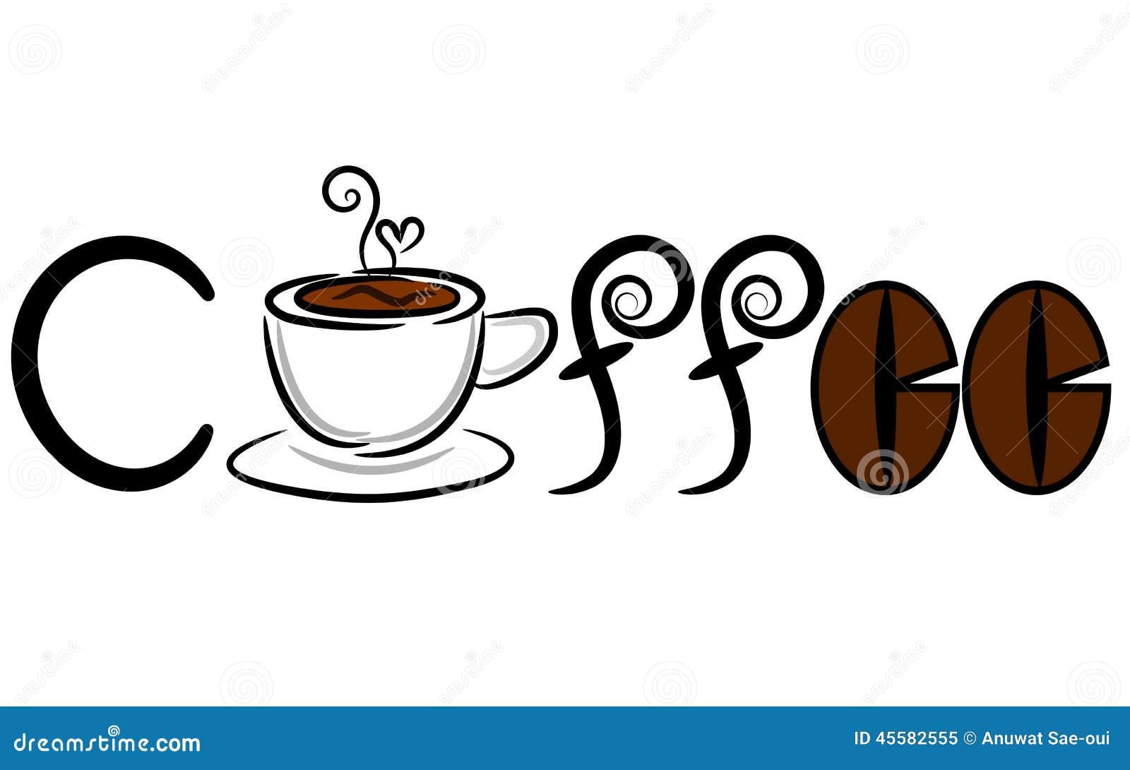 coffee banner amp logo stock vector image of heart logo