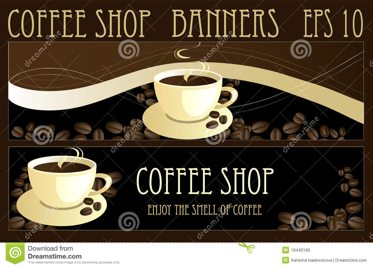Coffee Banners Royalty Free Stock Images Image 18440199