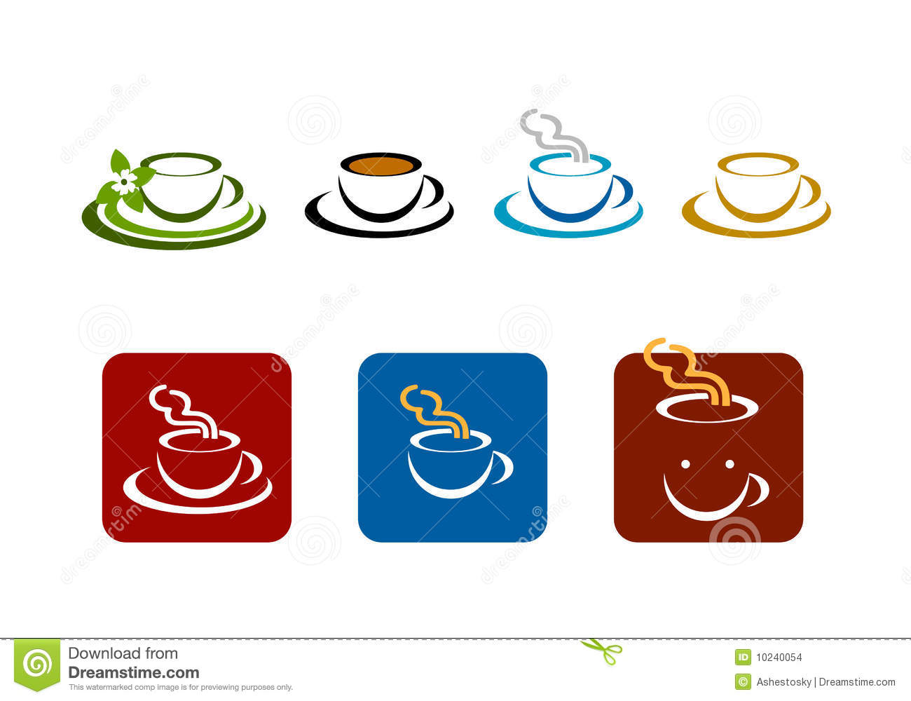 Coffee Manufacturers Logos : Coffee Bar Shop Vector Brands Logo Stock Images - Image: 10240054
