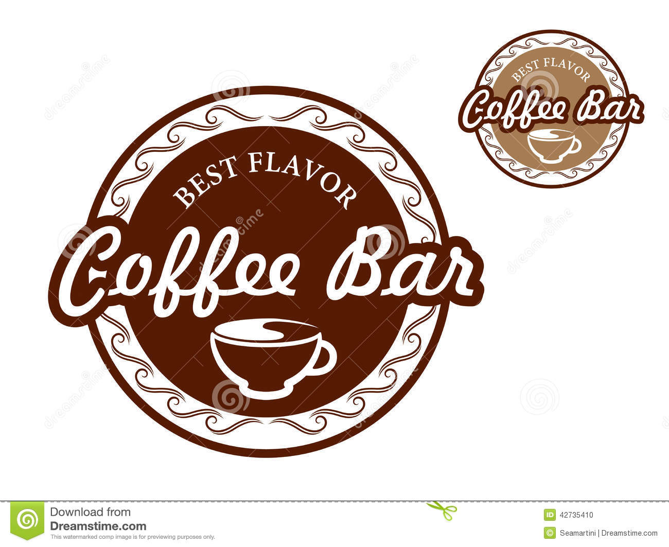 coffee bar signs stock vector - image: 42735410