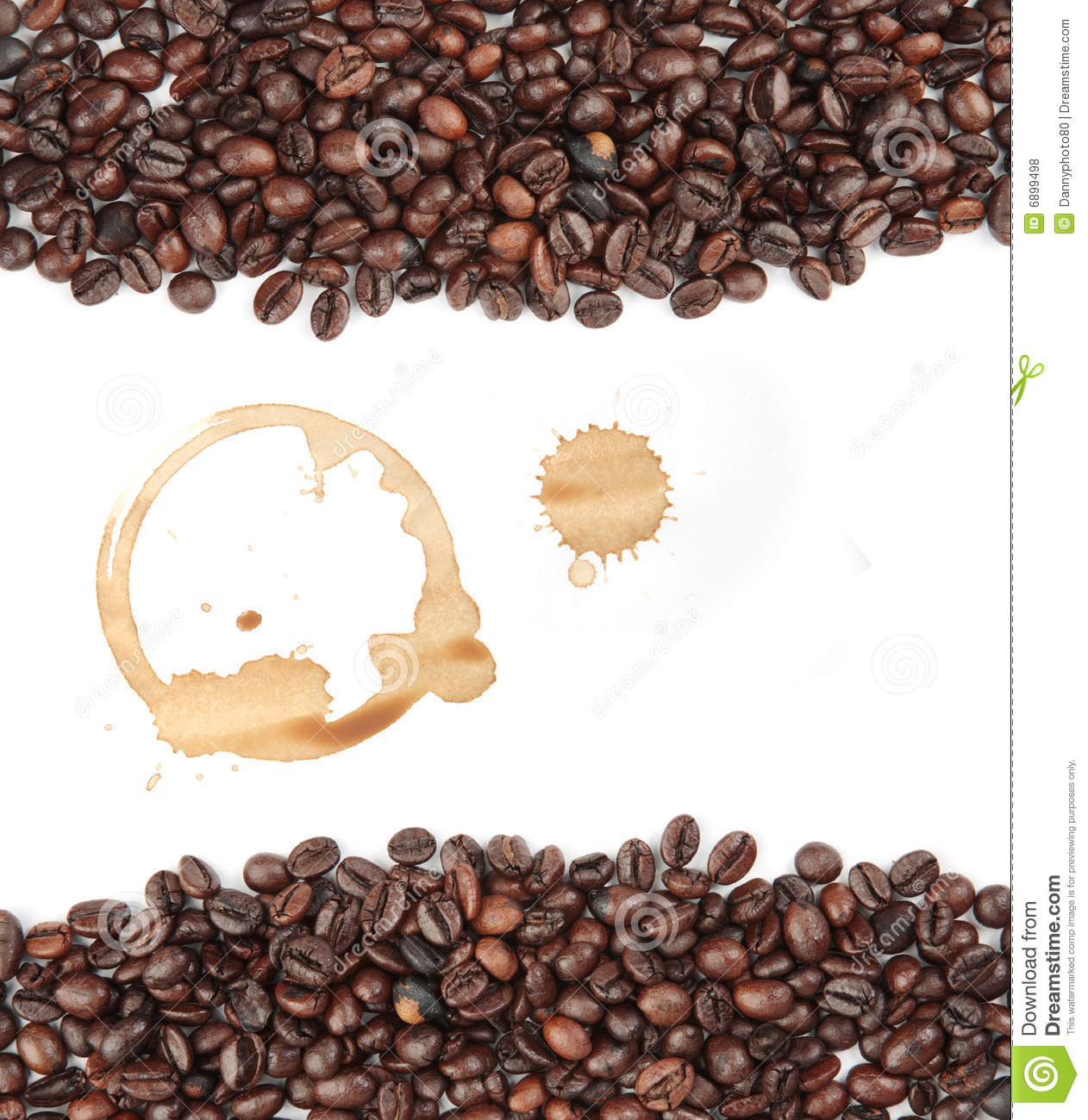 Coffee bean background stock photo. Image of isolated ...