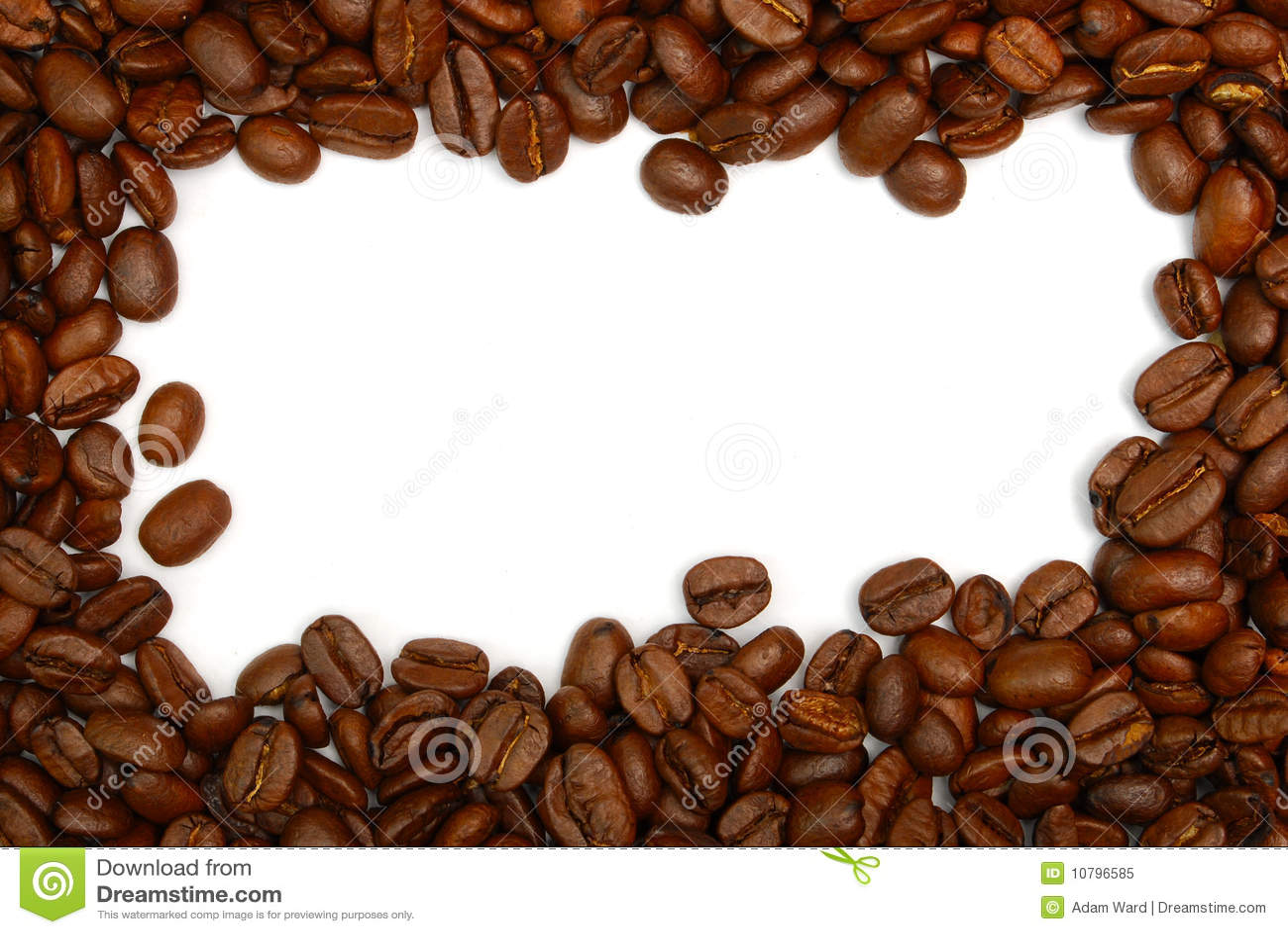 Coffee Bean Border ~ Coffee bean border stock image of food roasted