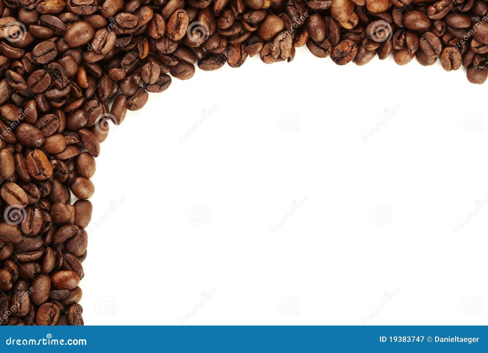 Coffee Bean Border ~ Coffee bean border stock image of background edged