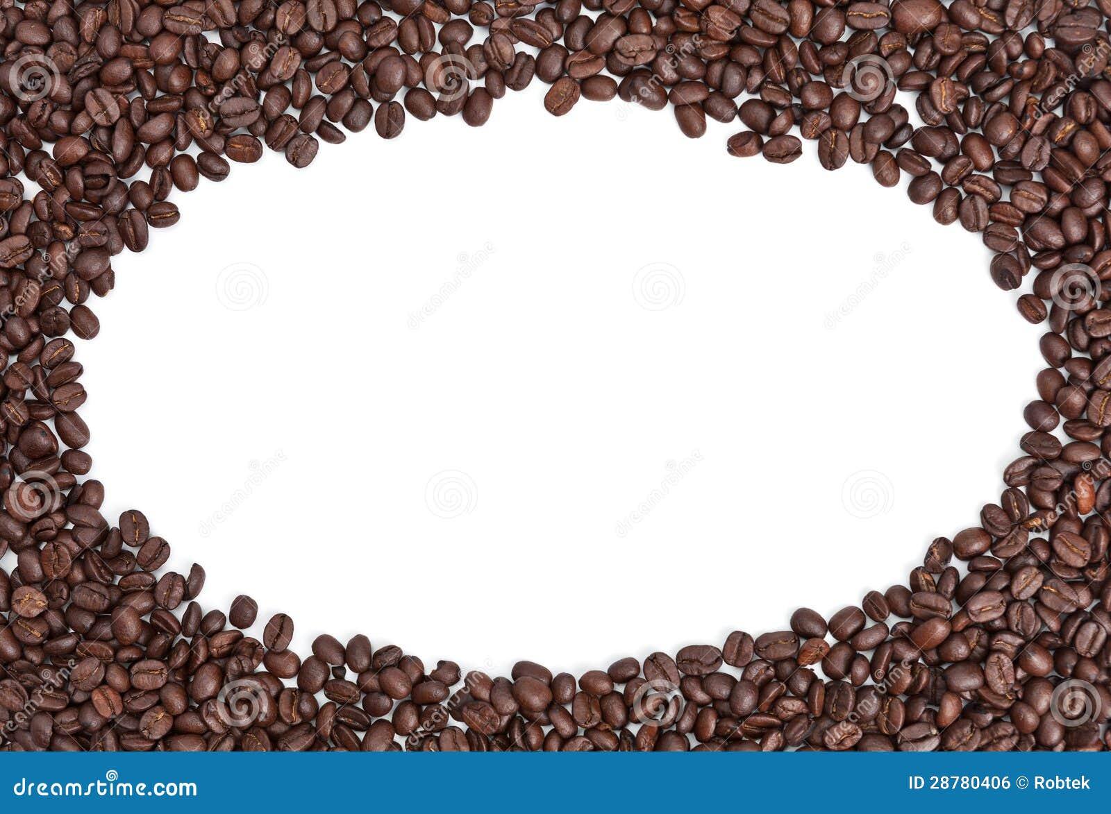 Coffee Bean Border ~ Coffee bean border stock photo image of brown copy