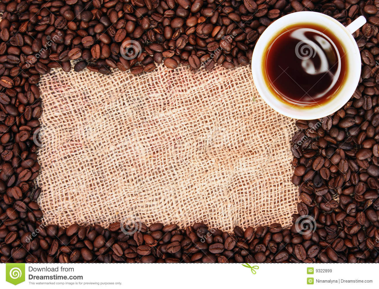 Coffee Bean Frame Stock Image Image Of Glass Caffeine