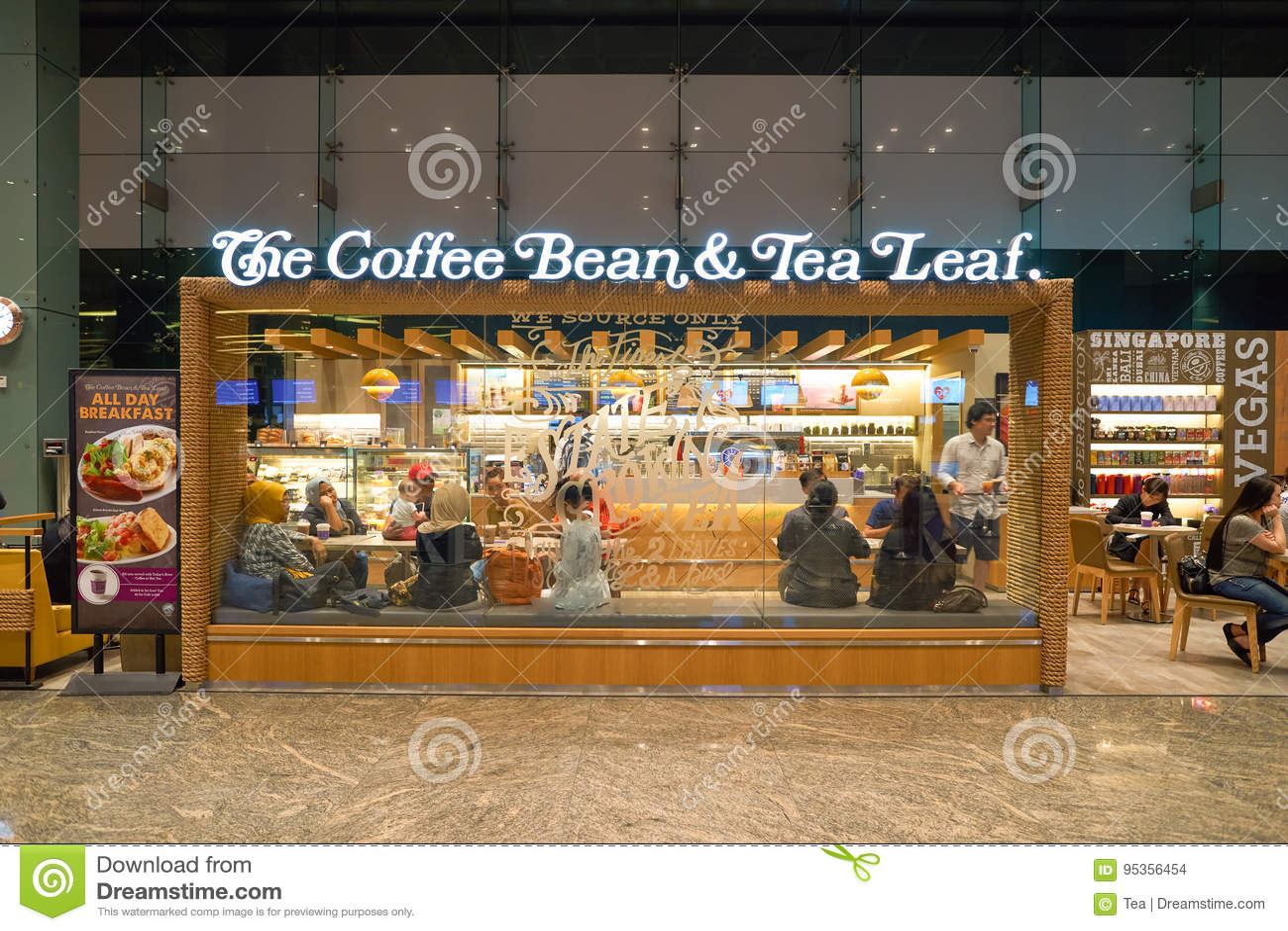 The Coffee Bean Tea Leaf Editorial Stock Image Image Of Coffee 95356454
