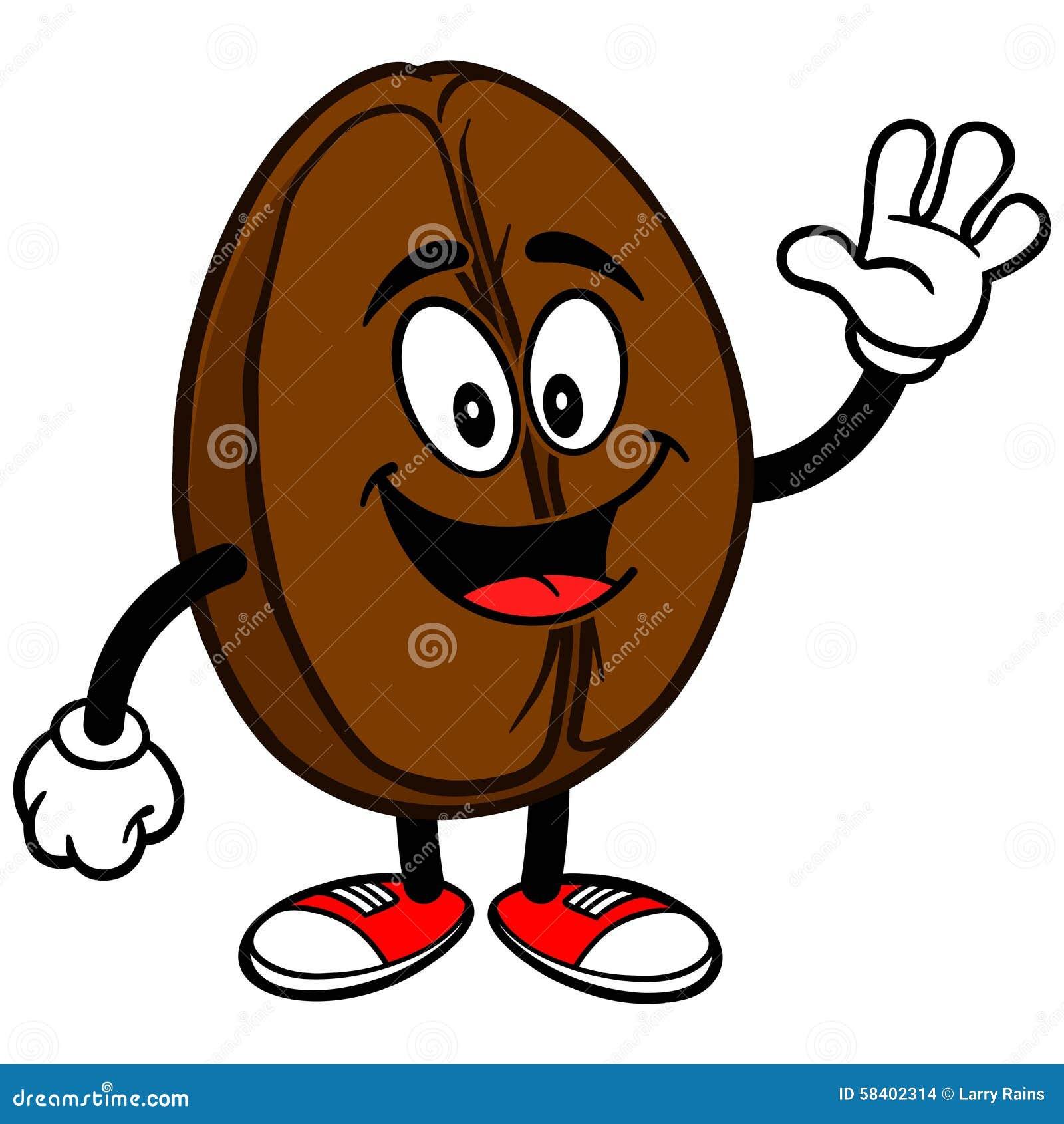 Brown Coffee Bean Cartoon