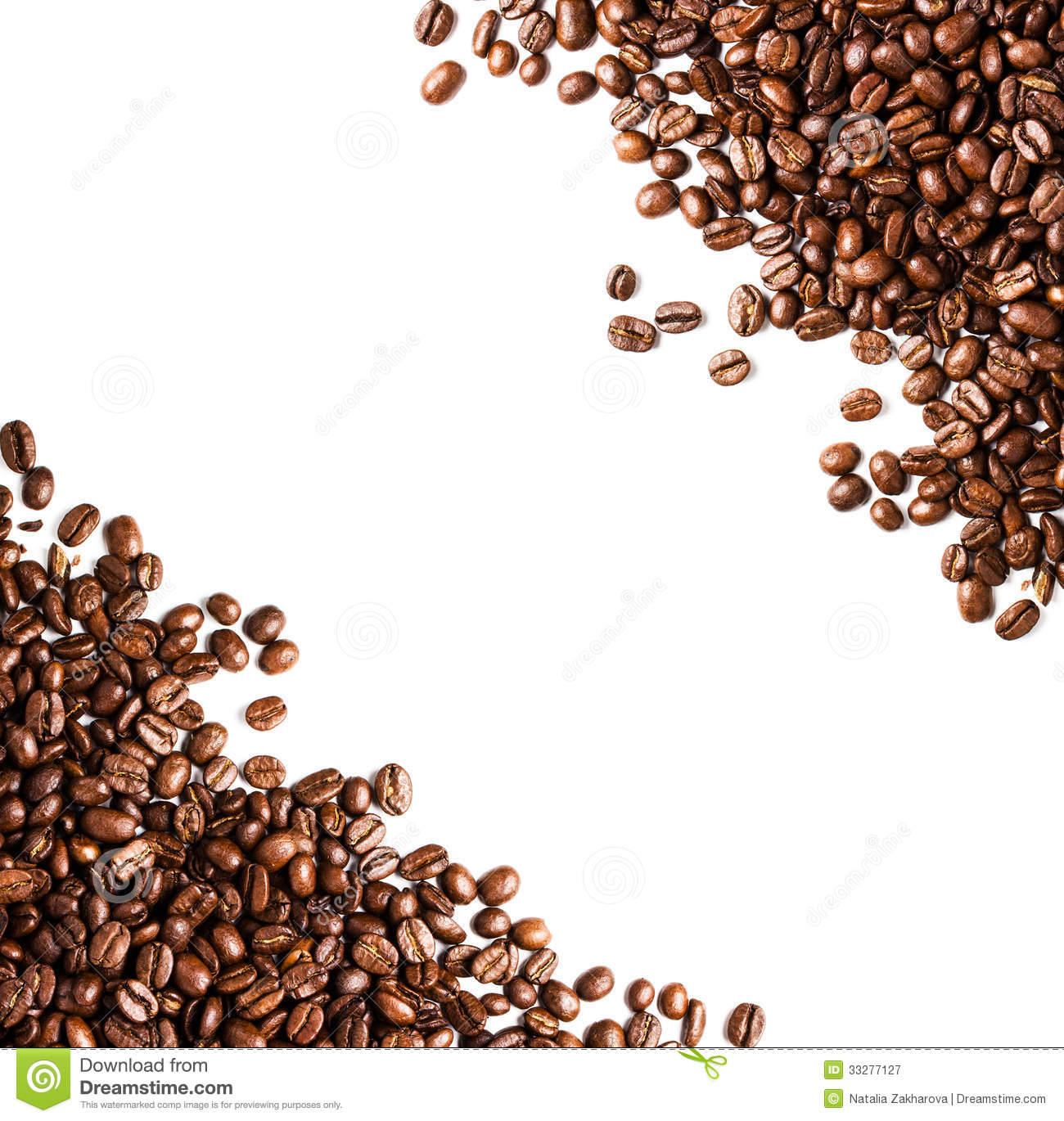 Coffee Beans Background Or Texture Closeup. Coffee Concept