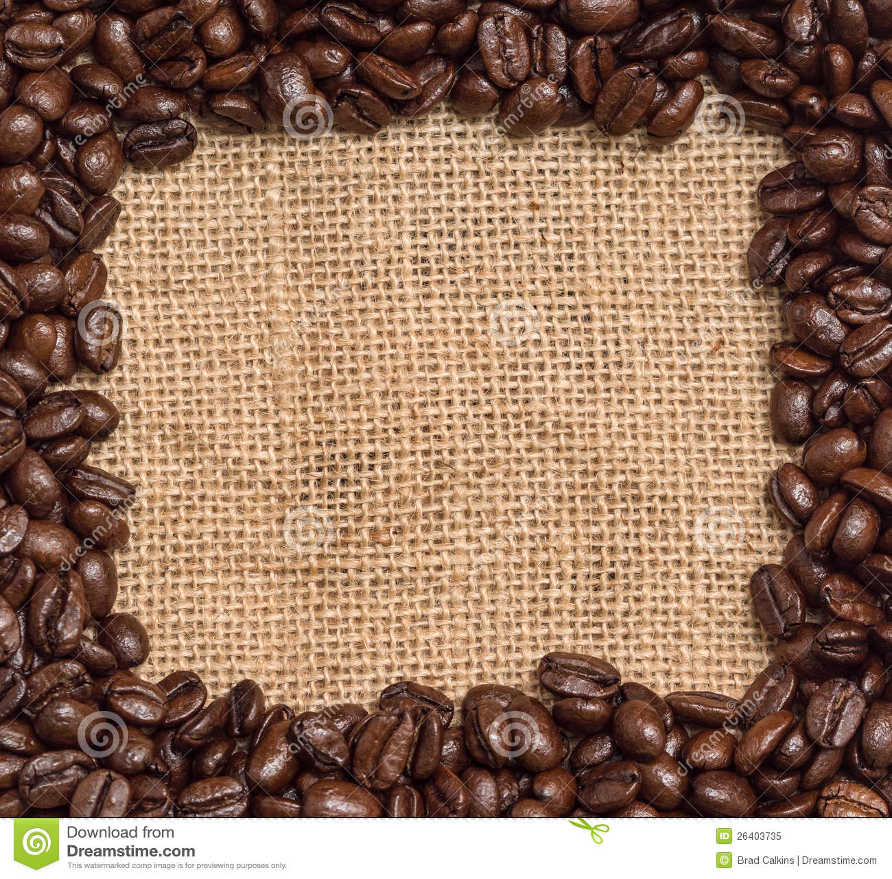 Coffee Bean Border ~ Coffee beans border stock image of drink abstract