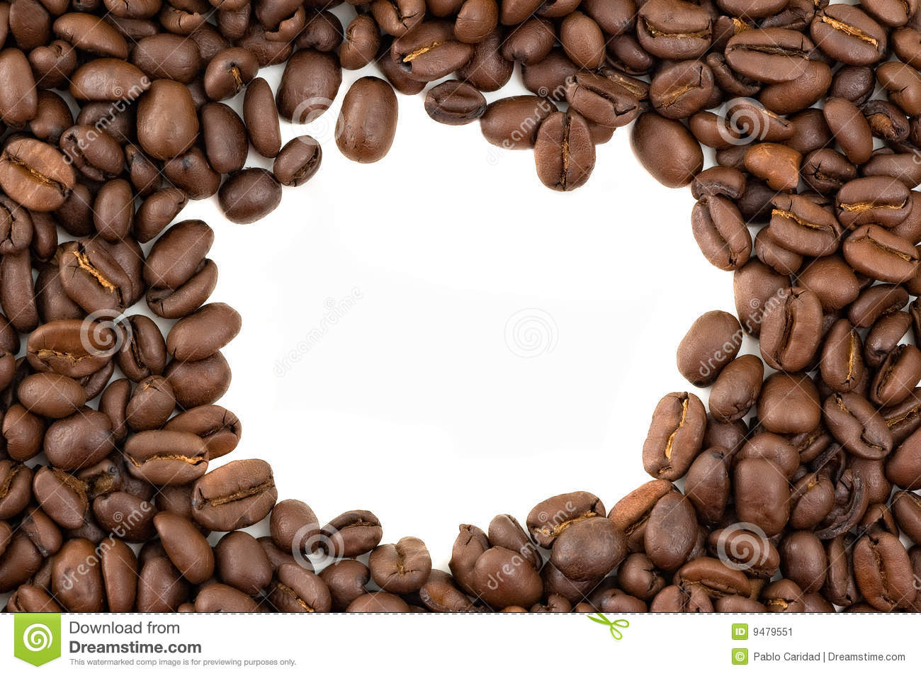 Coffee Bean Border ~ Coffee beans border stock image of background