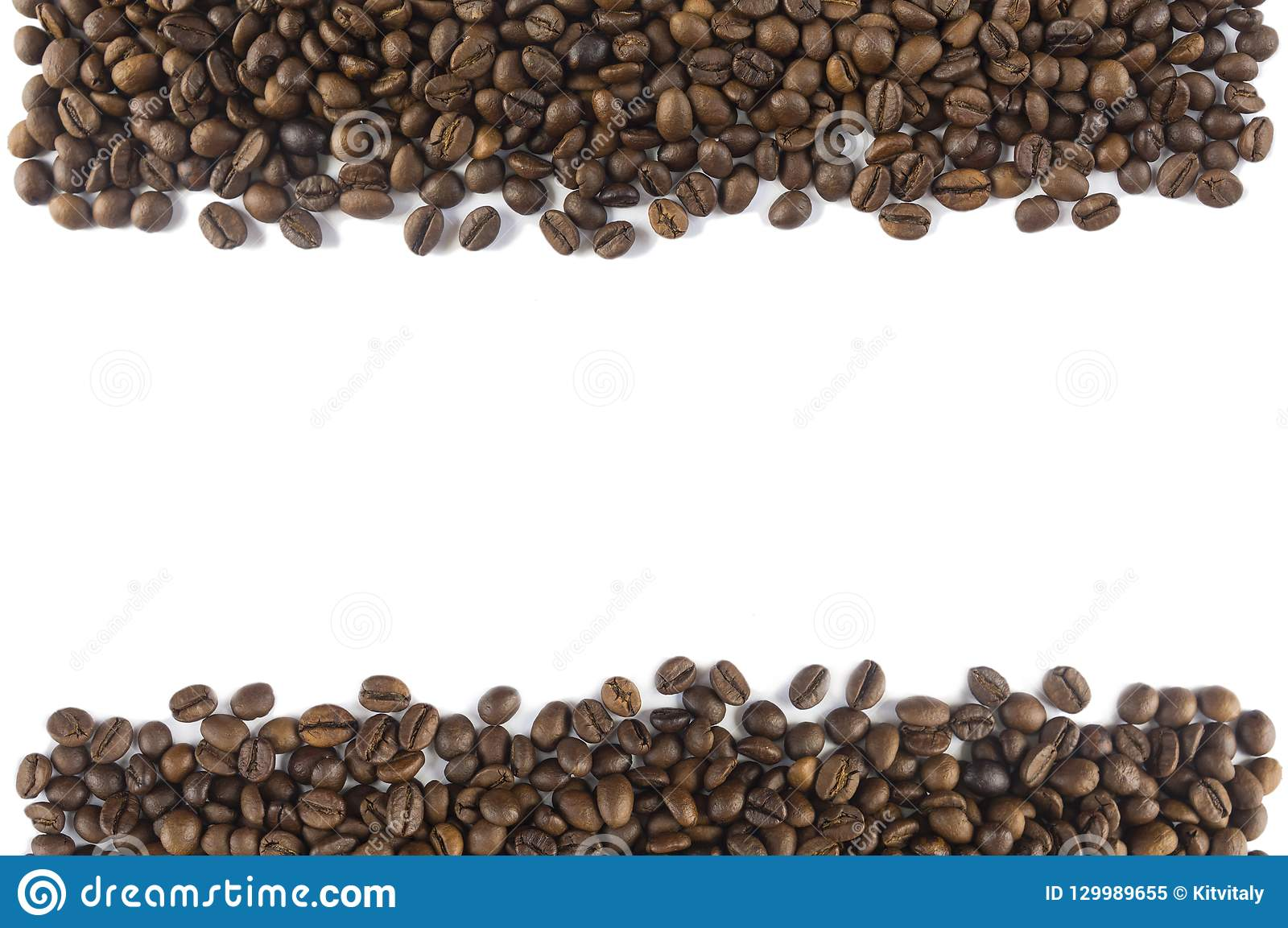 Coffee Beans At Border Of Image With Copy Space For Text ...