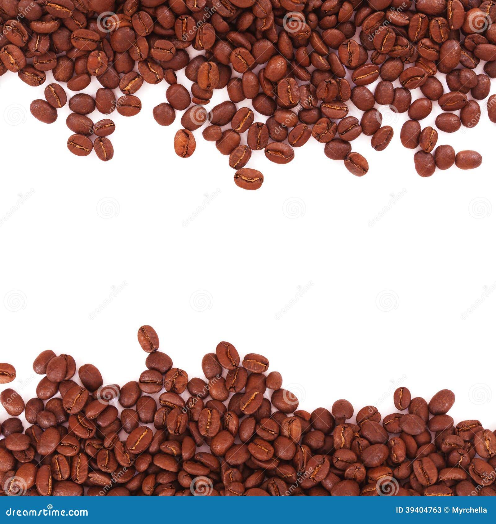Coffee Bean Border ~ Coffee beans border stock image of arabica