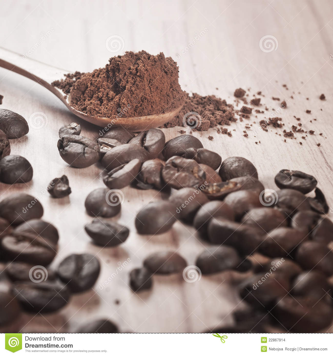 Coffee beans and cocoa