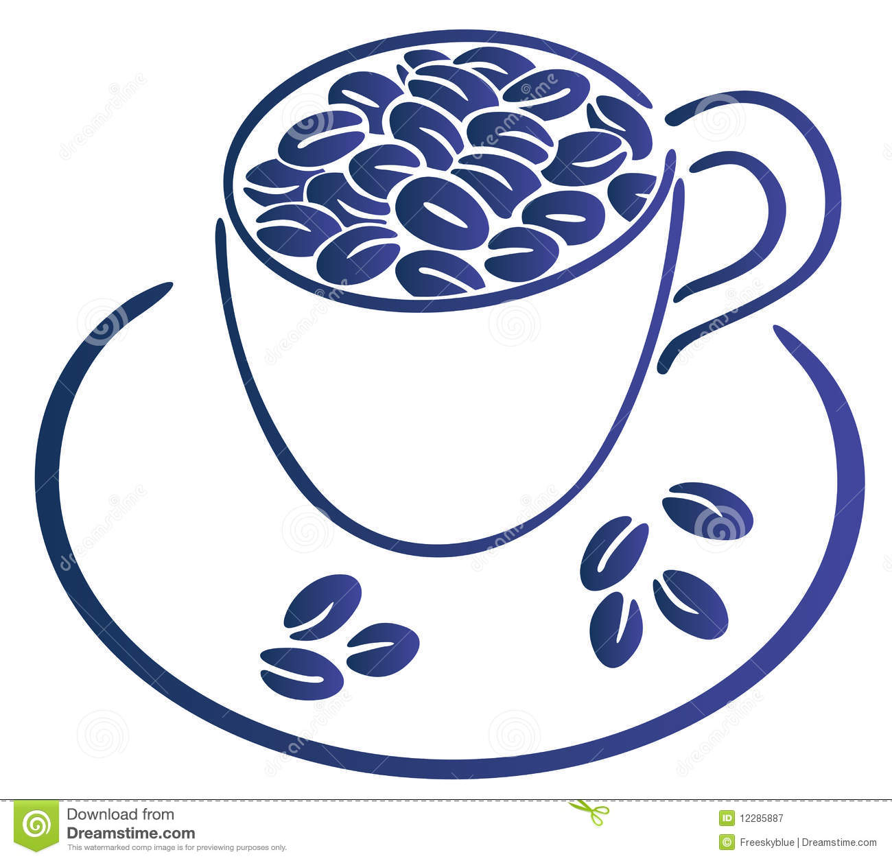 Coffee beans and cup royalty free stock photography for How to draw a coffee bean
