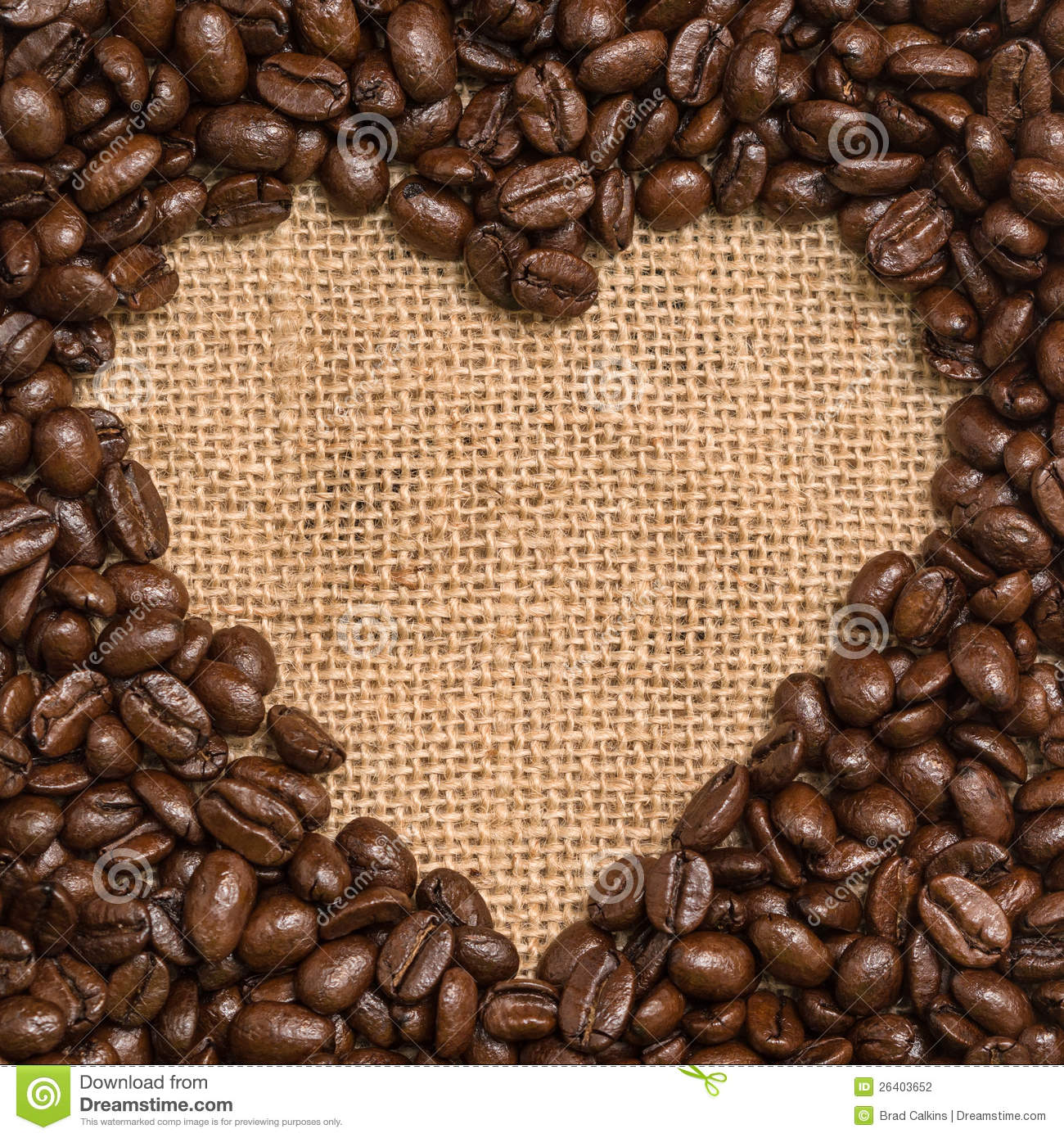 Coffee Beans Heart Stock Photography - Image: 26403652