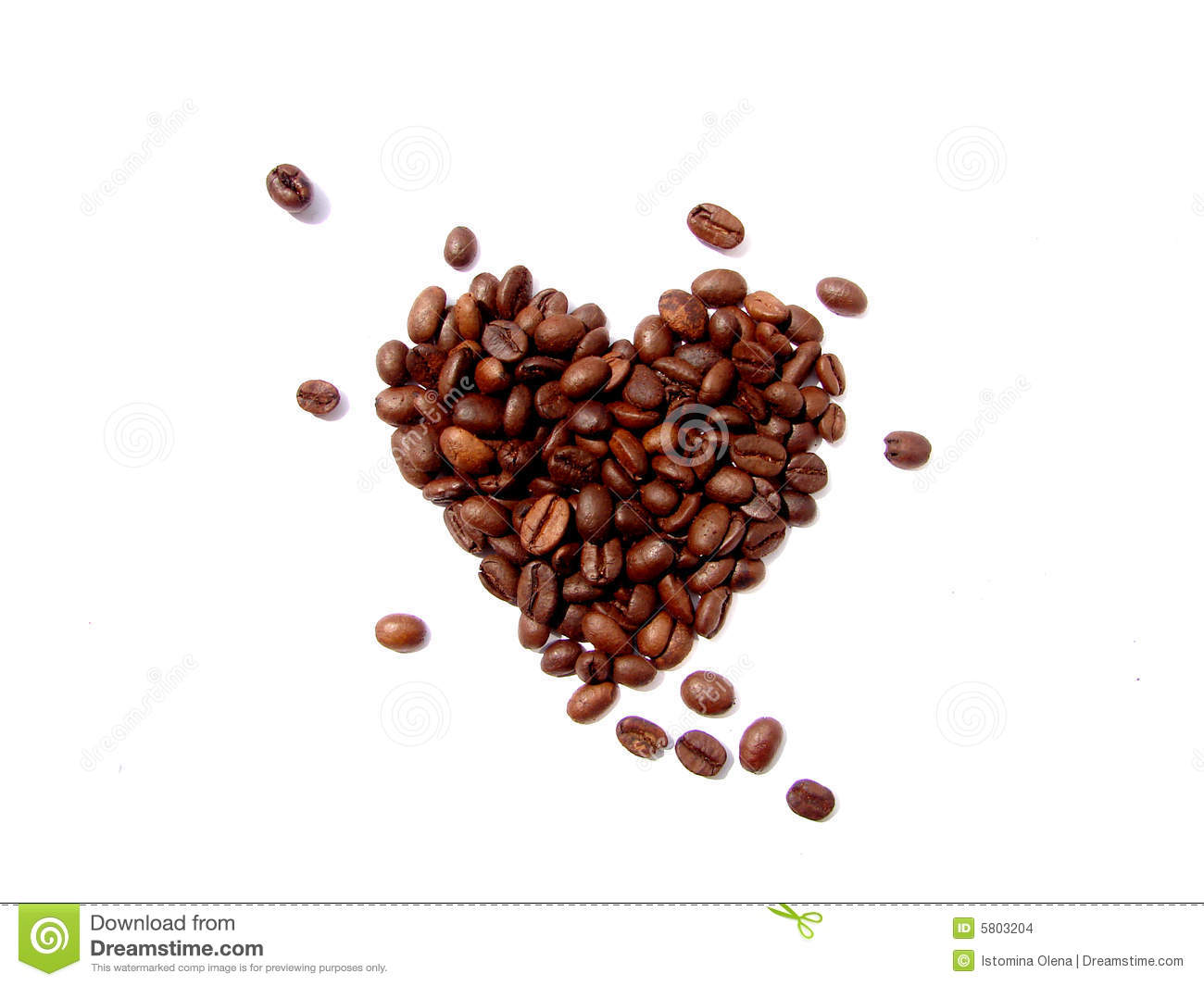 Download Coffee beans heart stock photo. Image of heart, aroma - 5803204