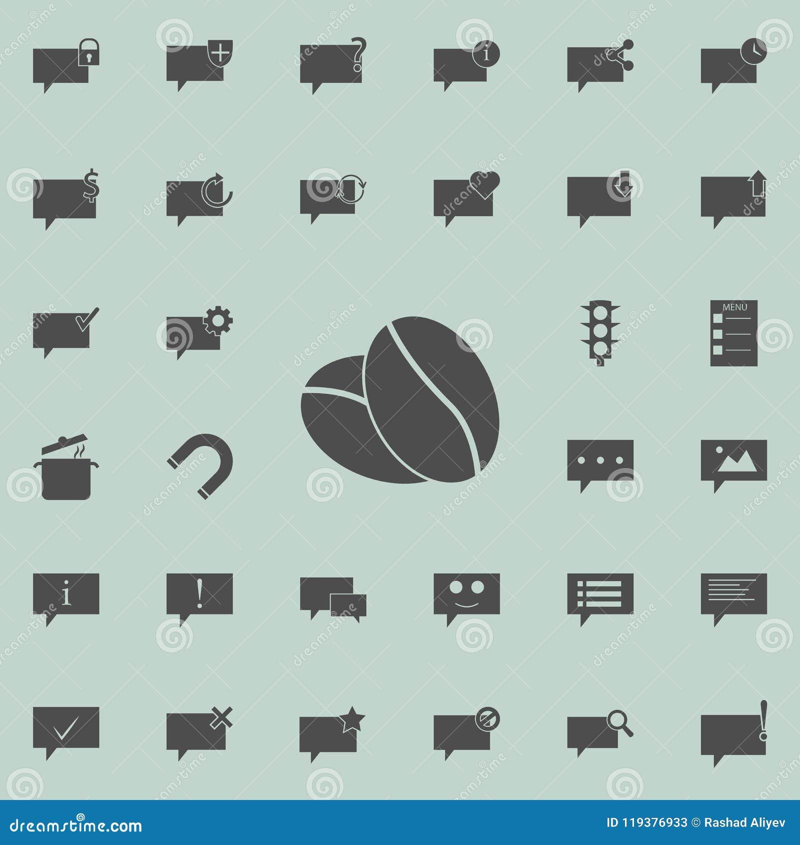Coffee Beans Icon Detailed Set Of Minimalistic Icons Premium