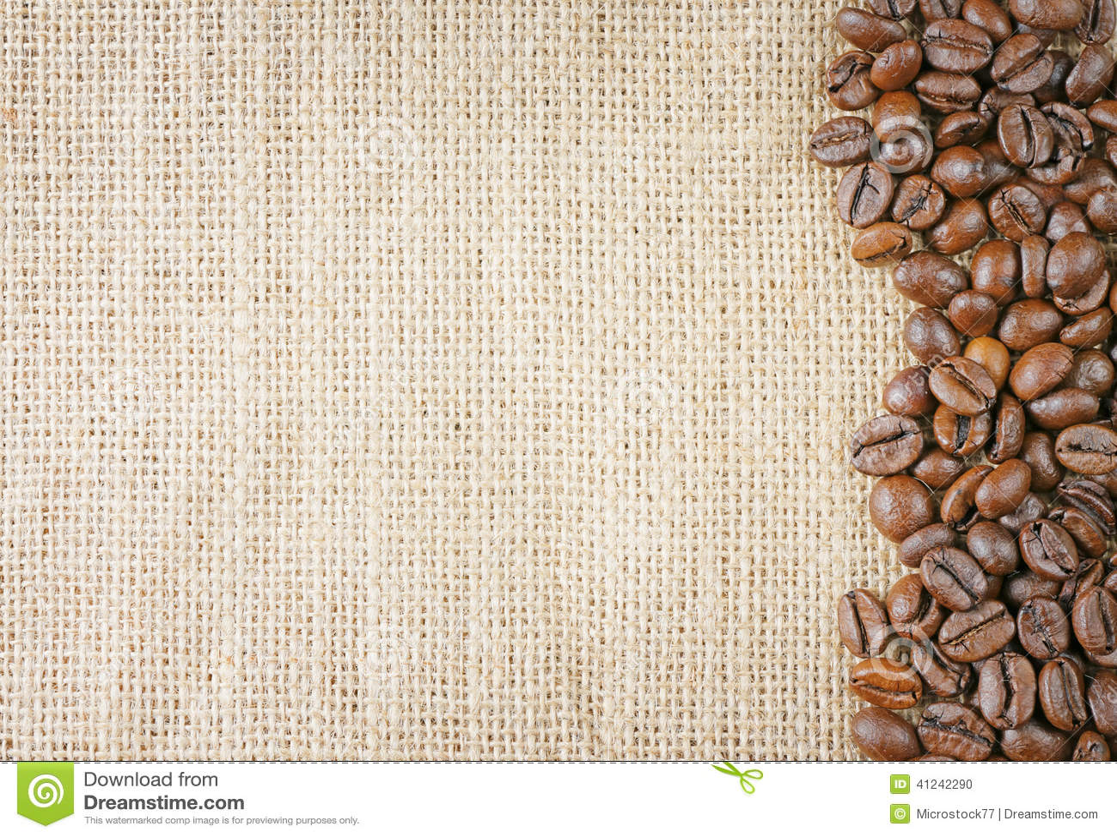 Coffee Beans Juta Stock Photo Image 41242290