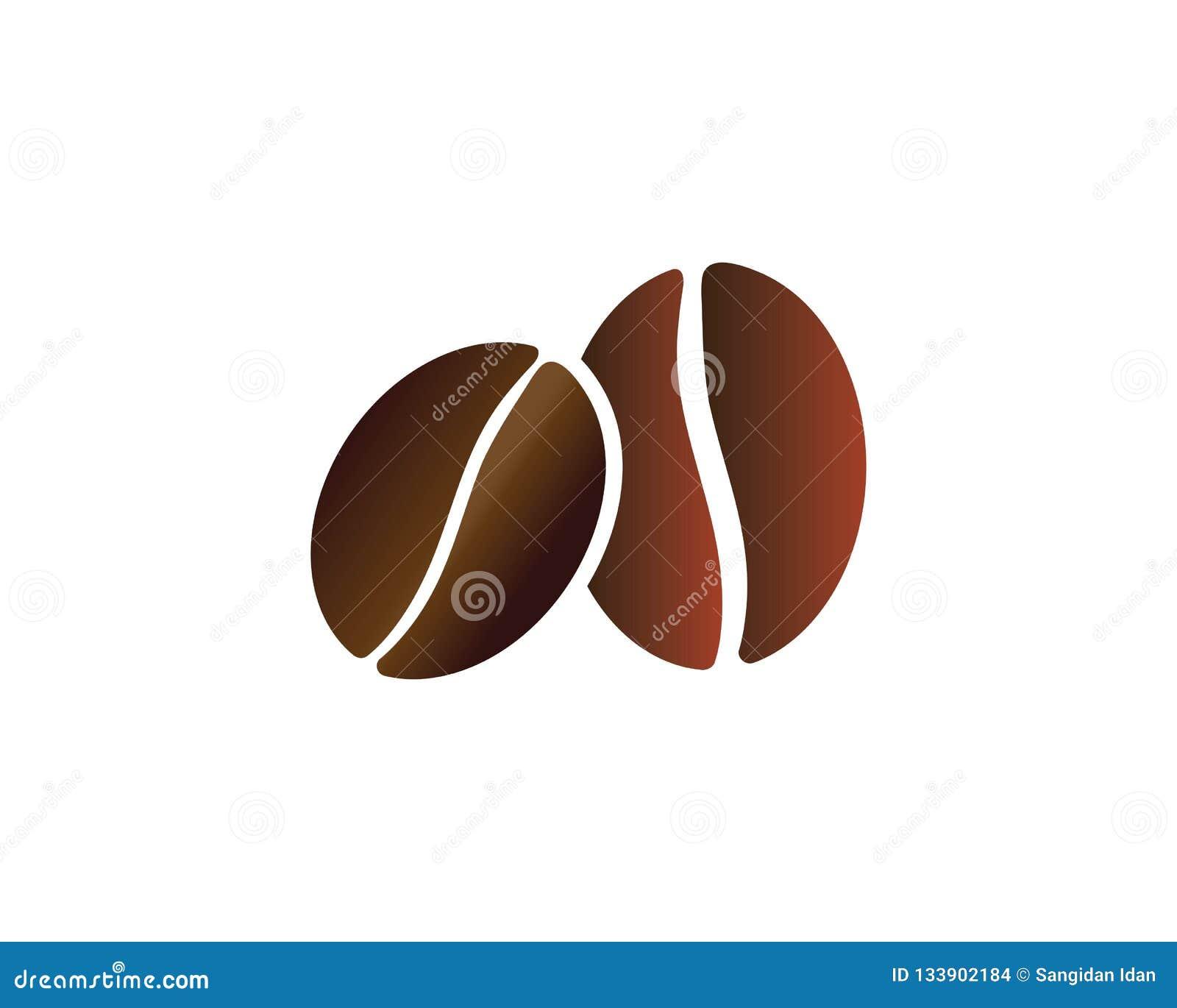 Coffee Beans Logo Template vector icon