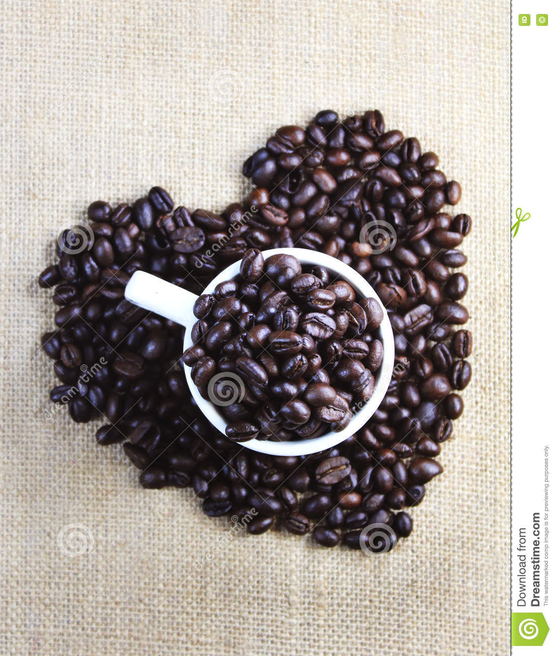 Coffee beans with love