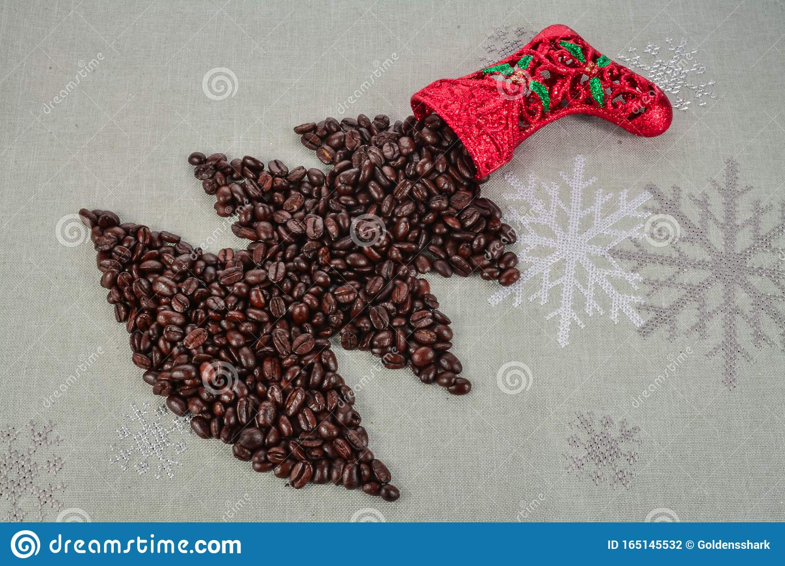 Coffee beans merry Christmas and 2020 happy new year