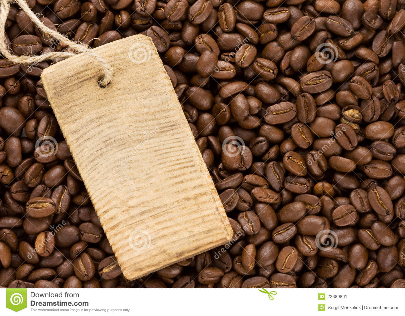 Coffee Beans And Price Tag Stock Image - Image: 22689891