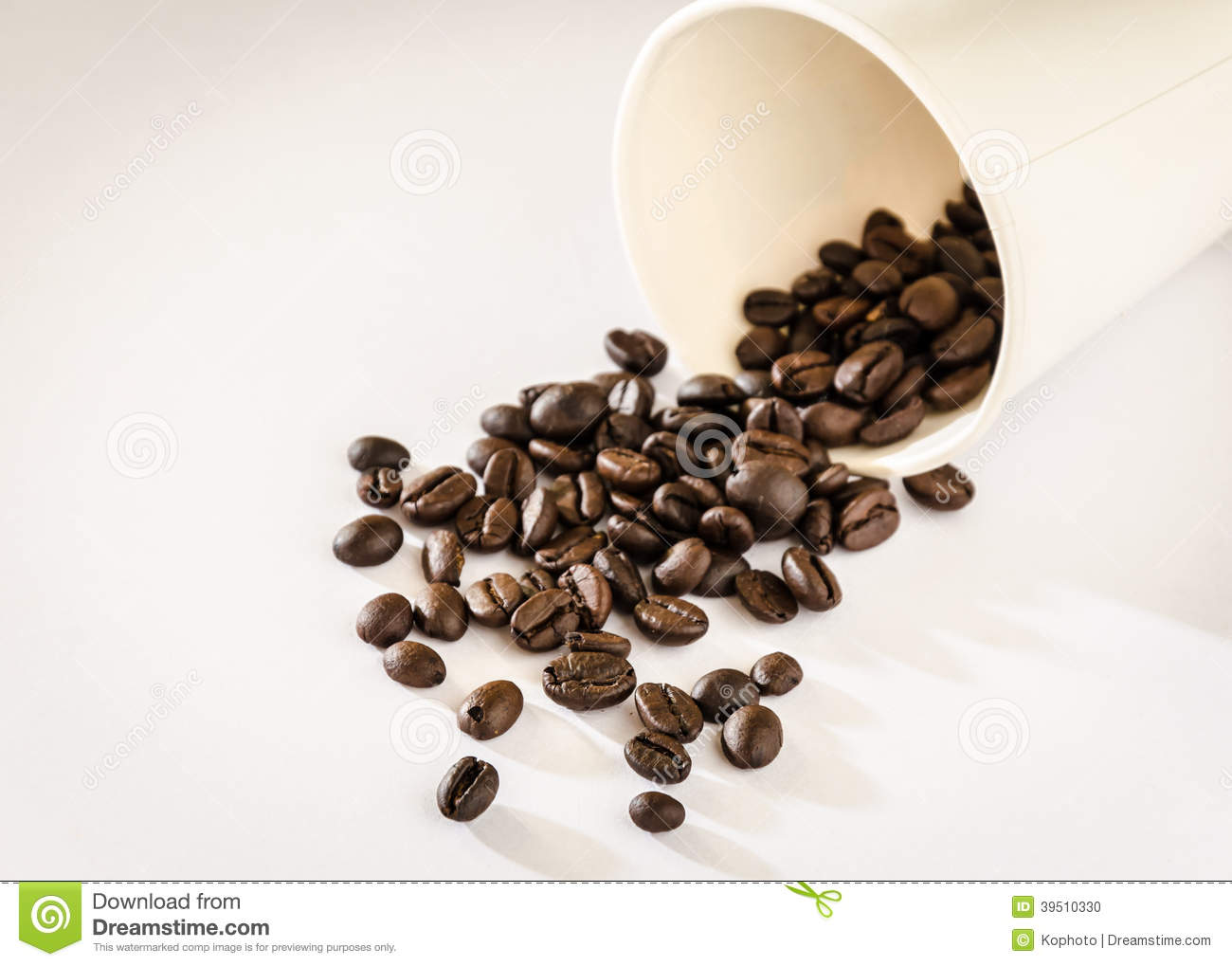 Coffee beans roasted