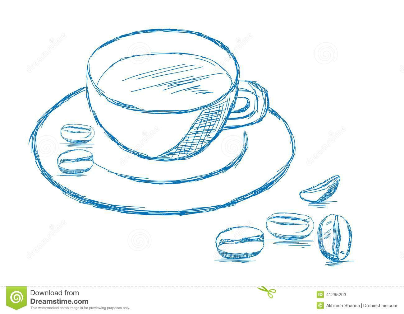 Notebook And Pen Sketch Stock Vector Art More Images Of: Coffee And Beans Sketch