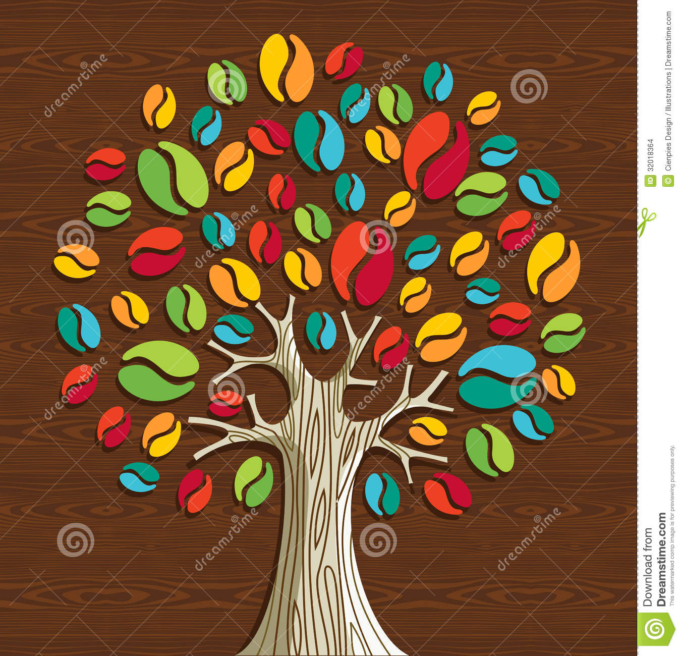 Coffee beans tree stock vector. Illustration of plant ...