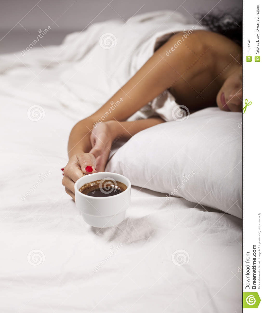 Coffee In Bed Royalty Free Stock Image - Image: 33966246
