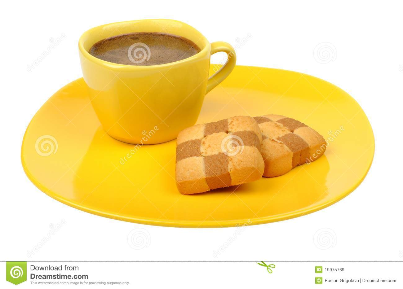 Coffee And Biscuits Royalty Free Stock Images - Image: 19975769