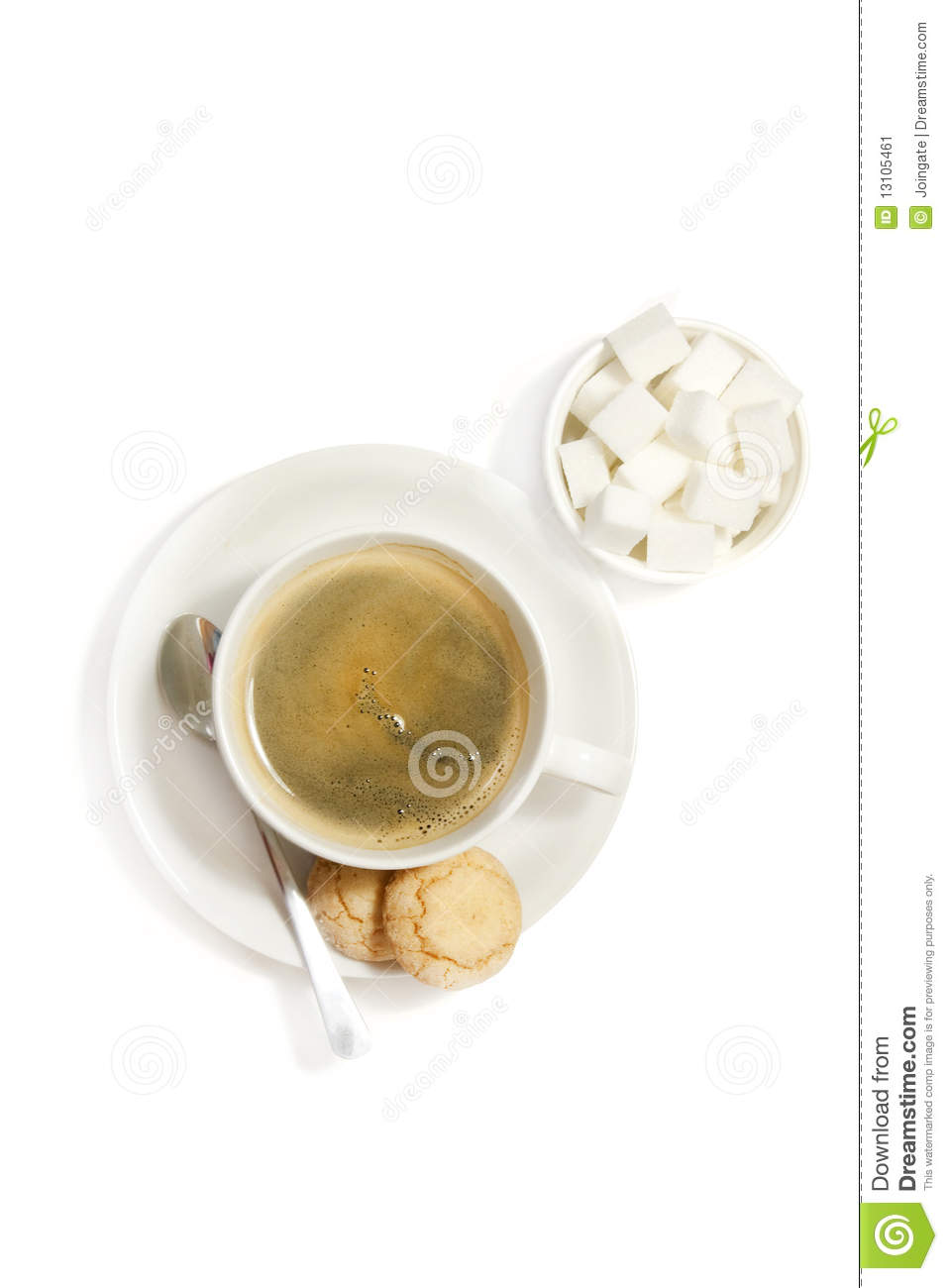 More similar stock images of ` Coffee and biscuits on white `