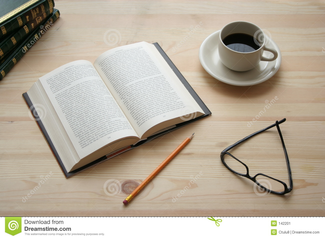 Coffee And Book Stock Image - Image: 142201