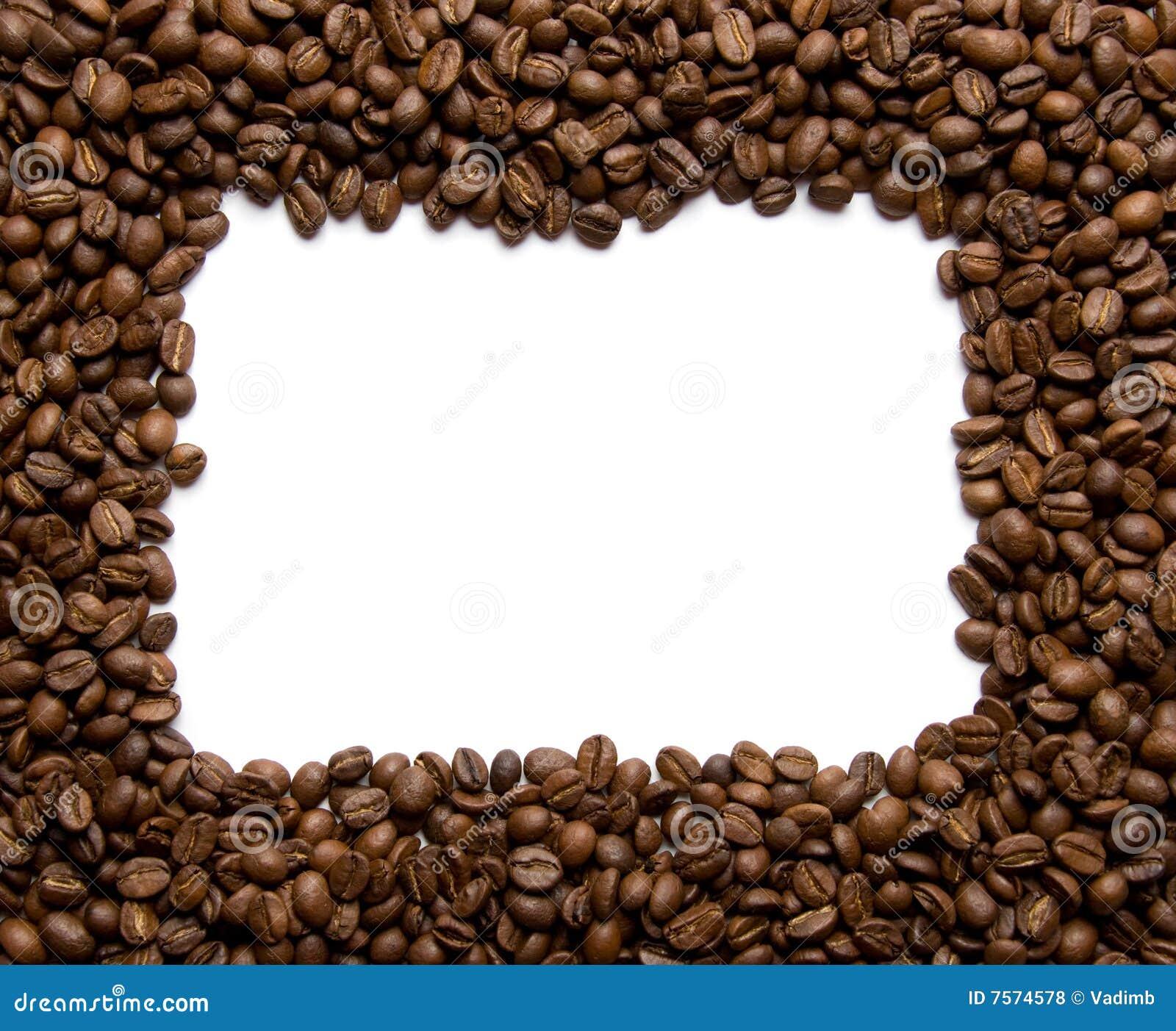Coffee Bean Border ~ Coffee border stock photo image of drink grain